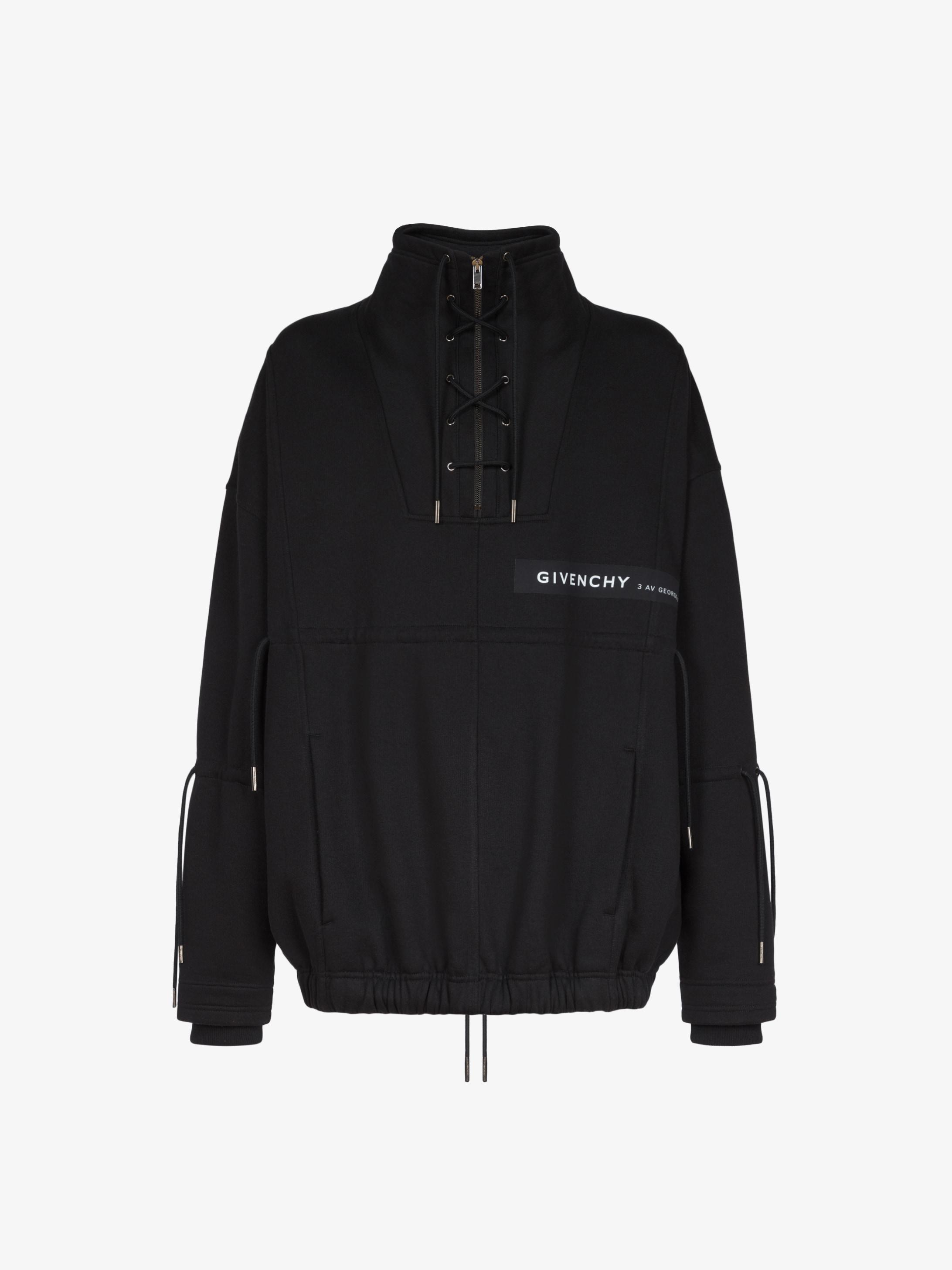 Sweatshirt oversized lacé à bande Adresse GIVENCHY