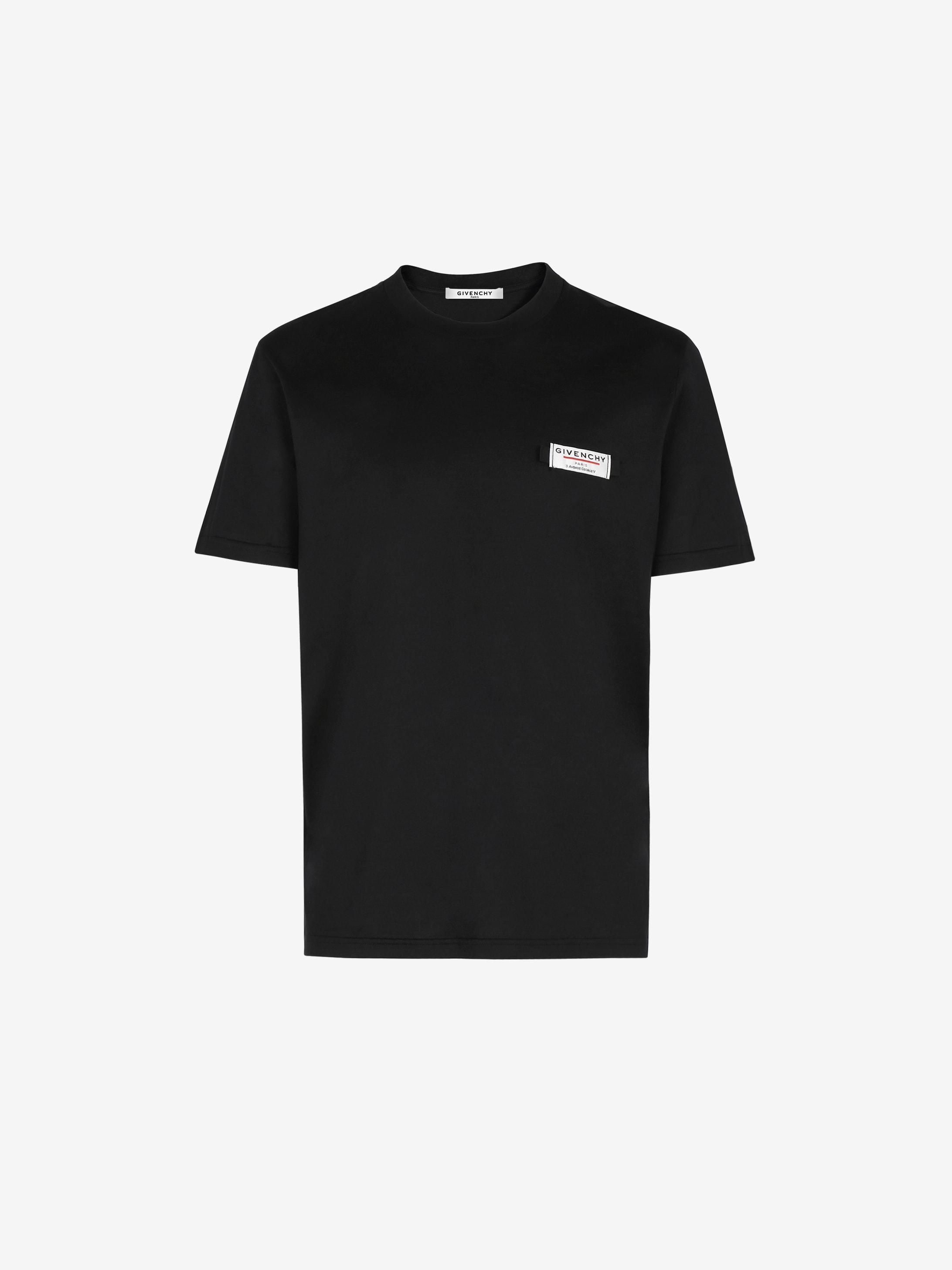 T-shirt slim à patch GIVENCHY Label