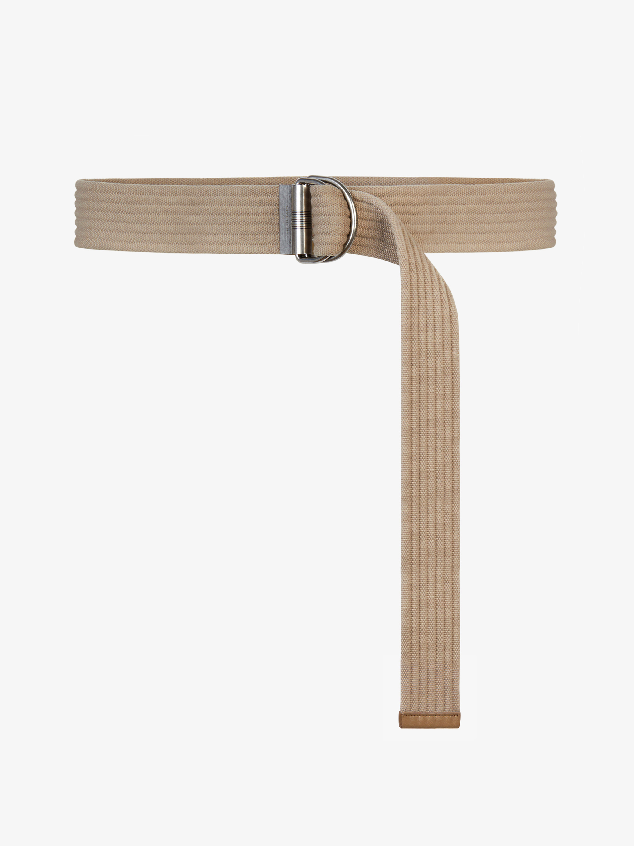D-ring buckle belt in canvas