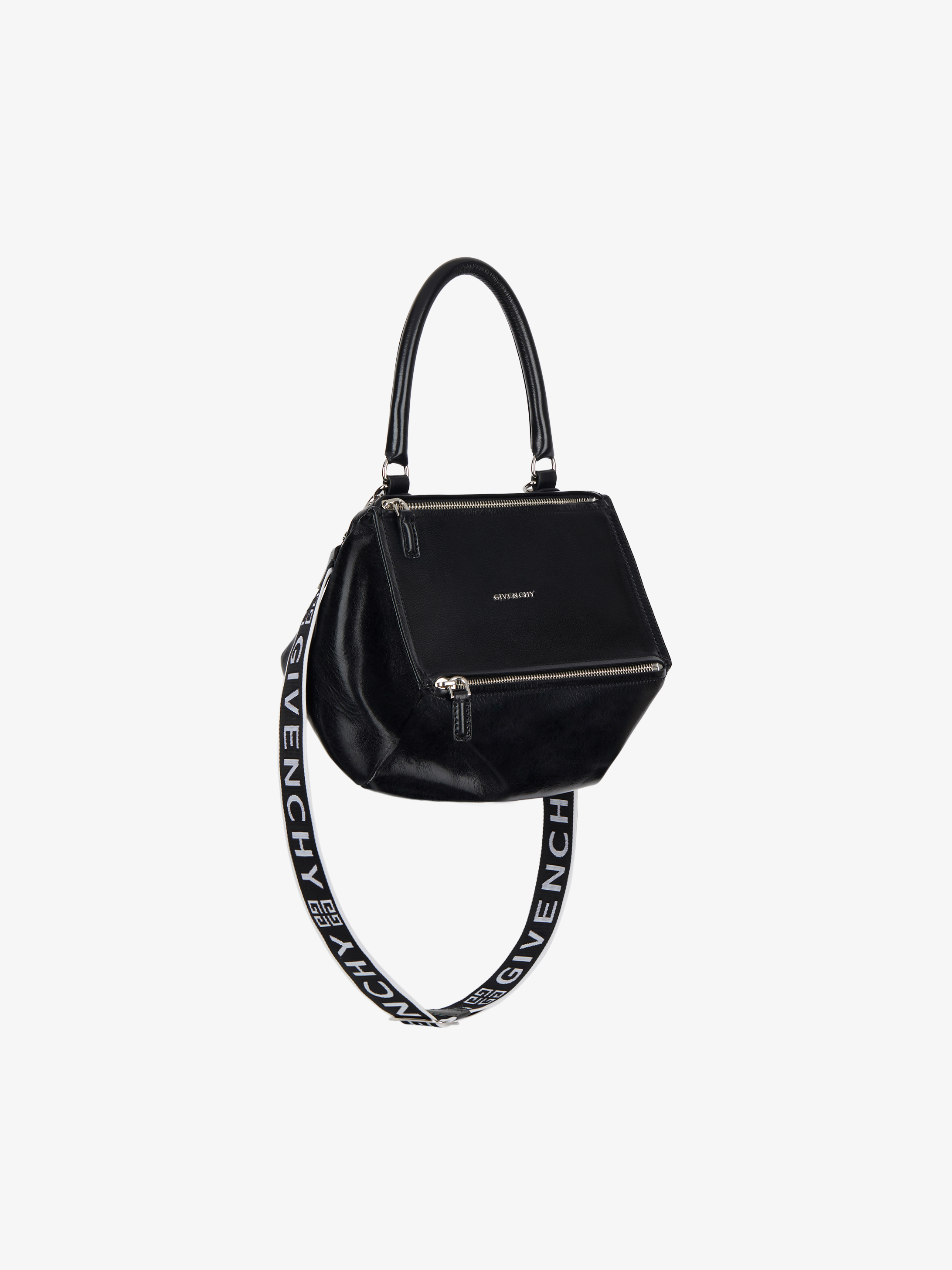 Small pandora bag in patent leather with 4G strap