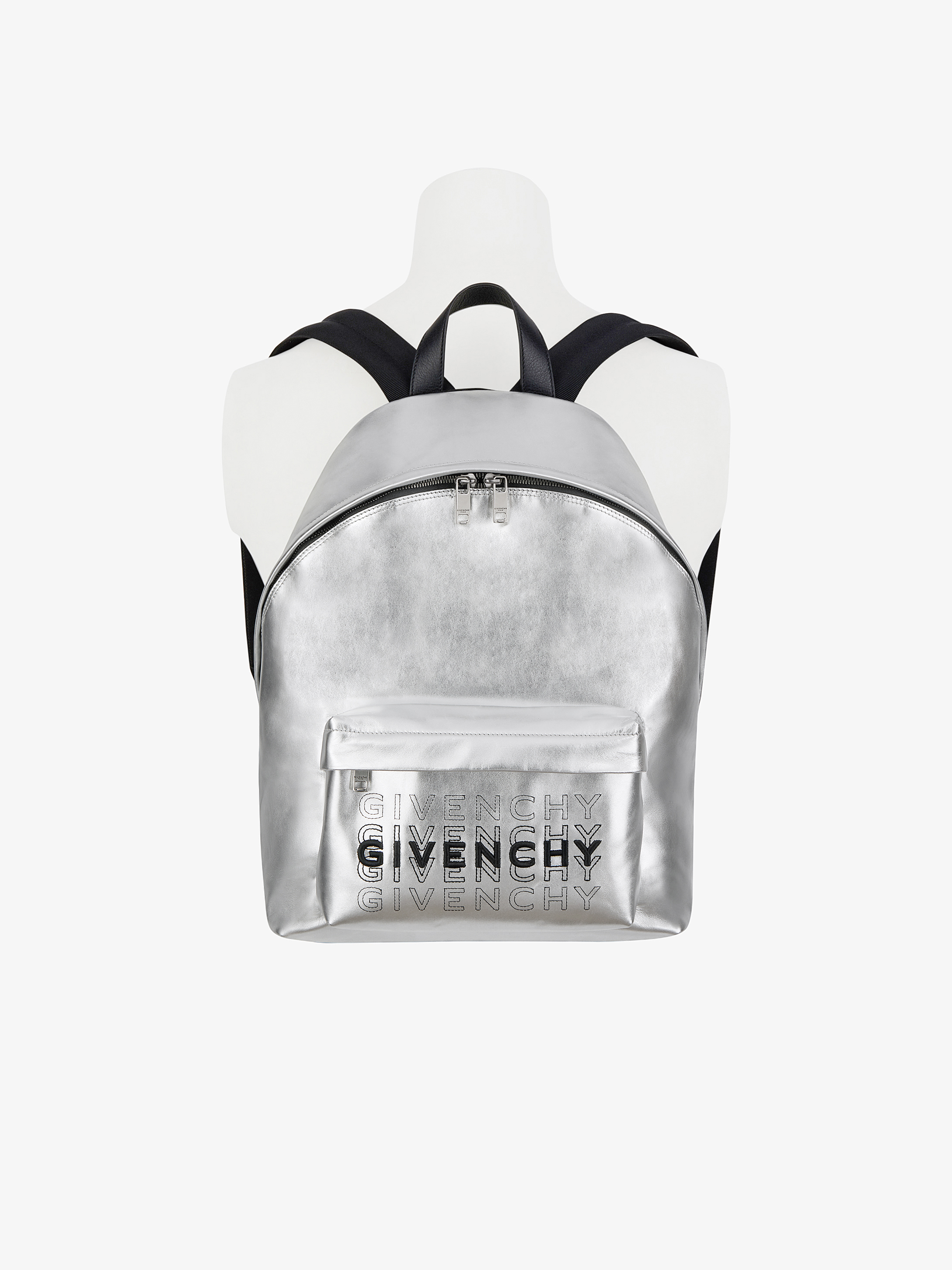 GIVENCHY shading backpack in metallized leather