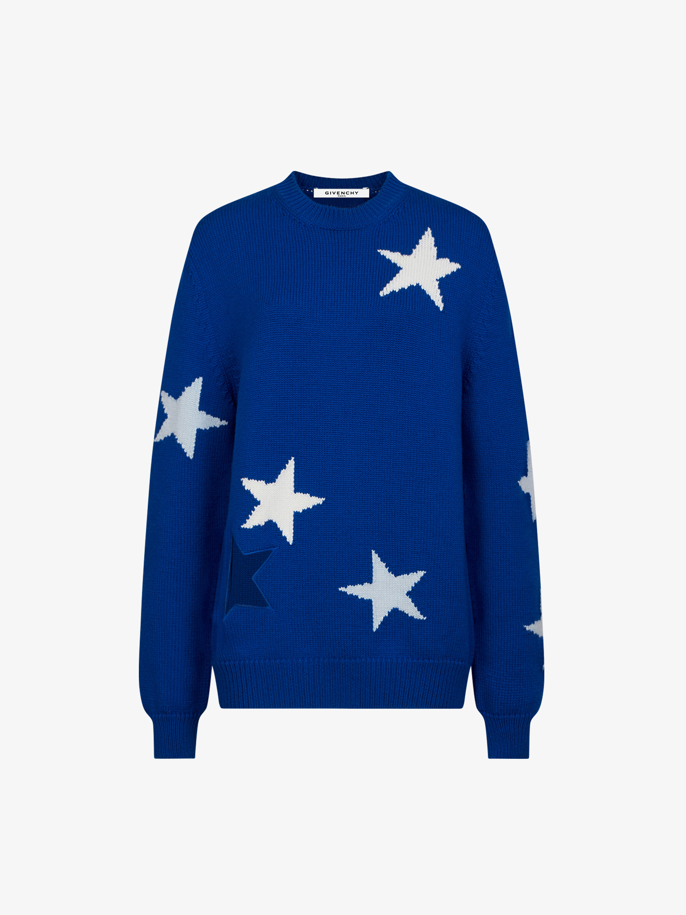 Stars jumper in wool and mohair