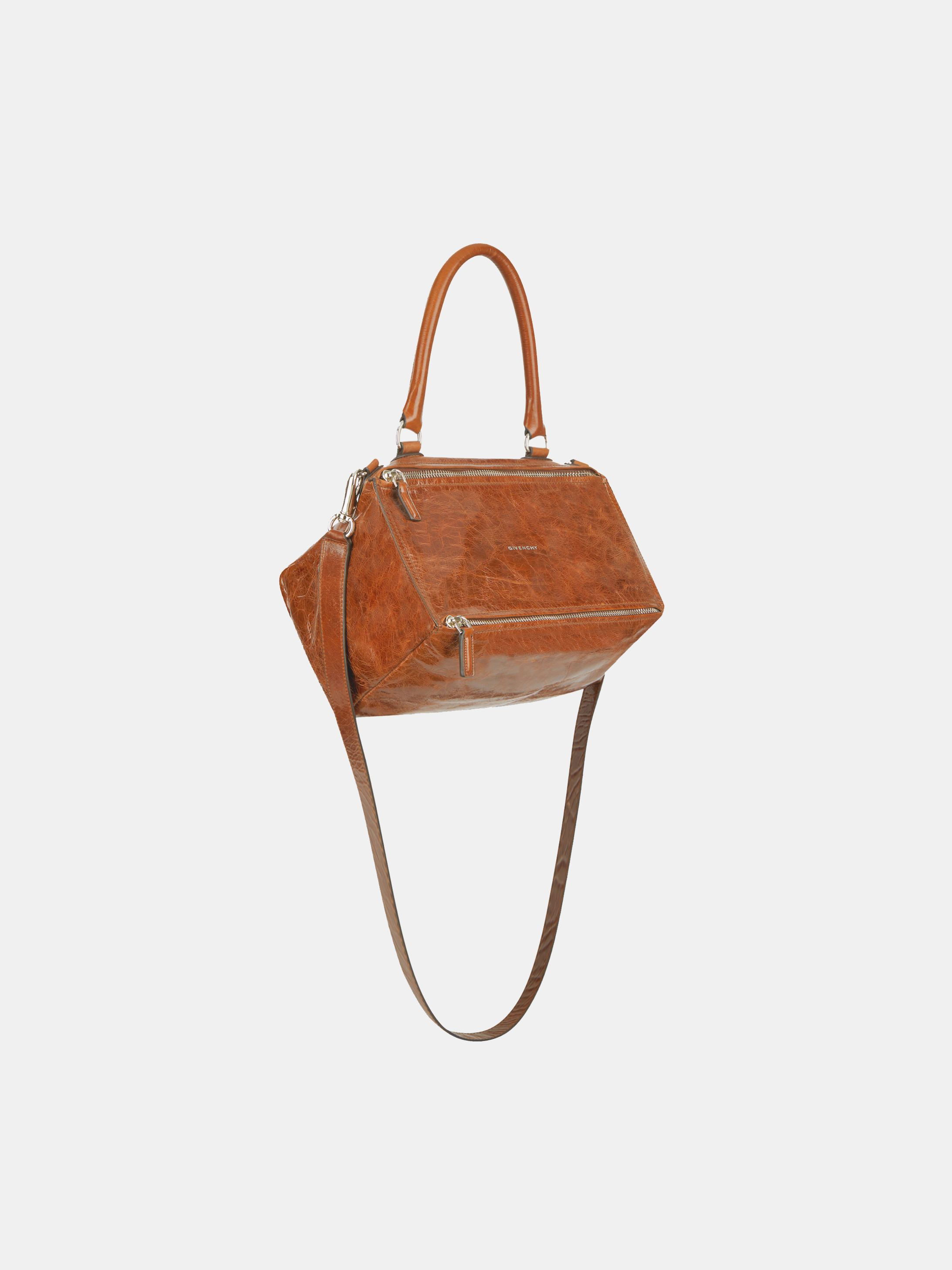 Small Pandora bag in shinny aged leather