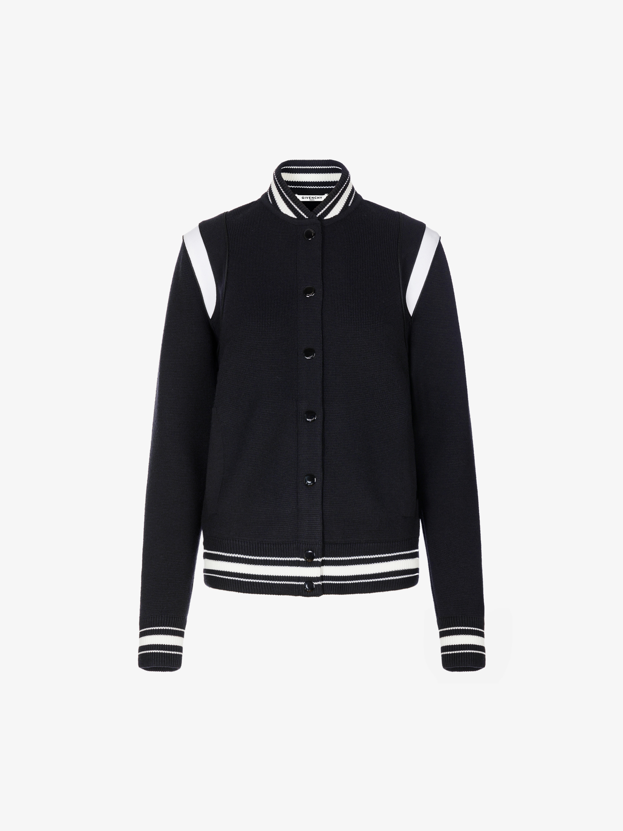 4G knitted bomber jacket