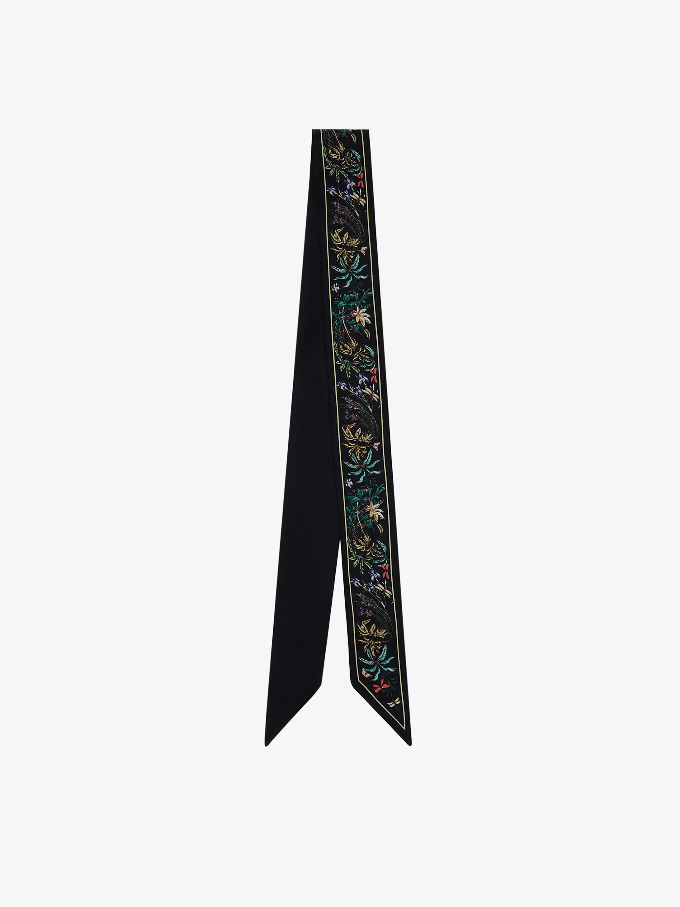 GIVENCHY heandband in floral printed silk