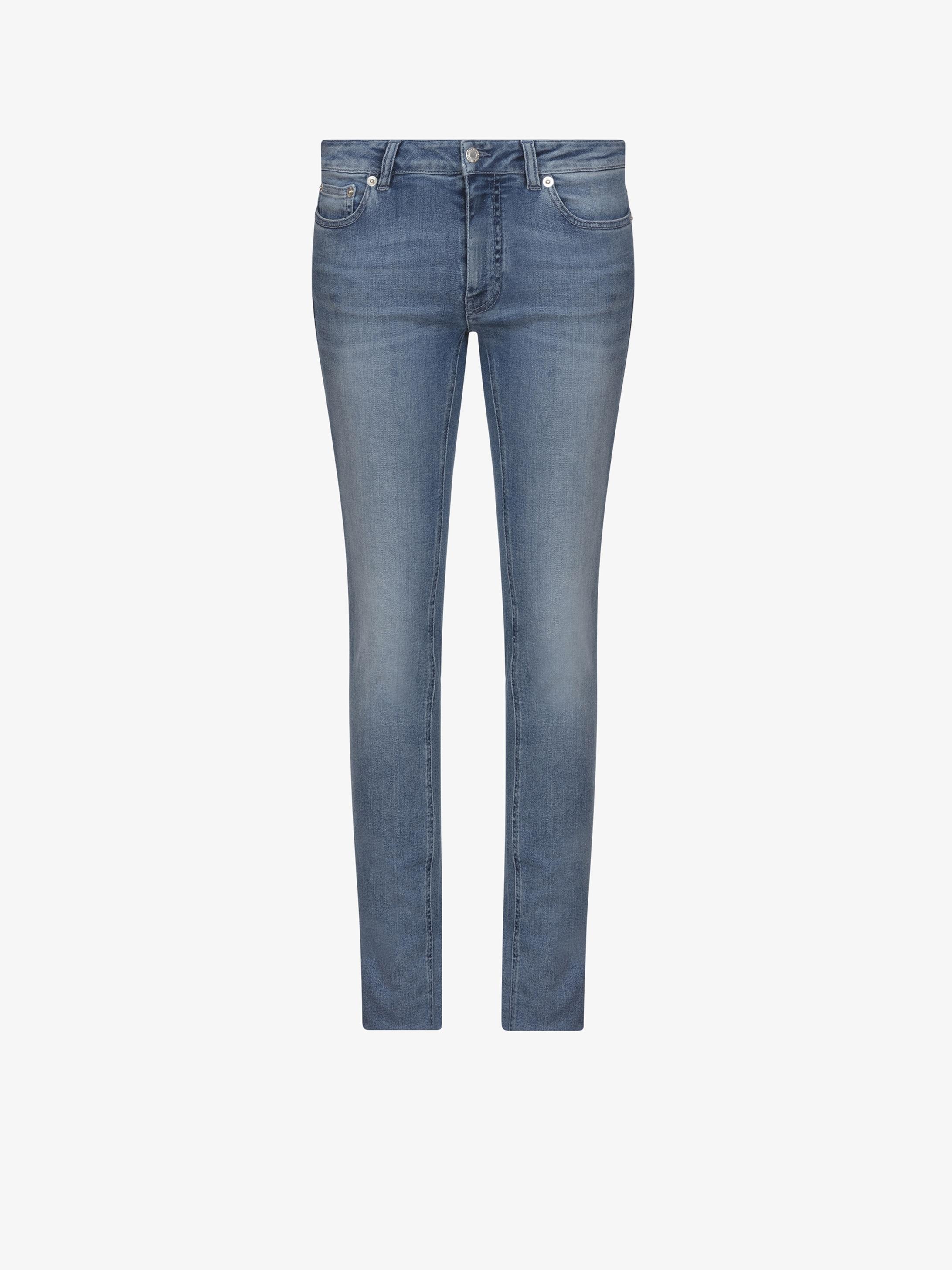 Back stars denim jeans