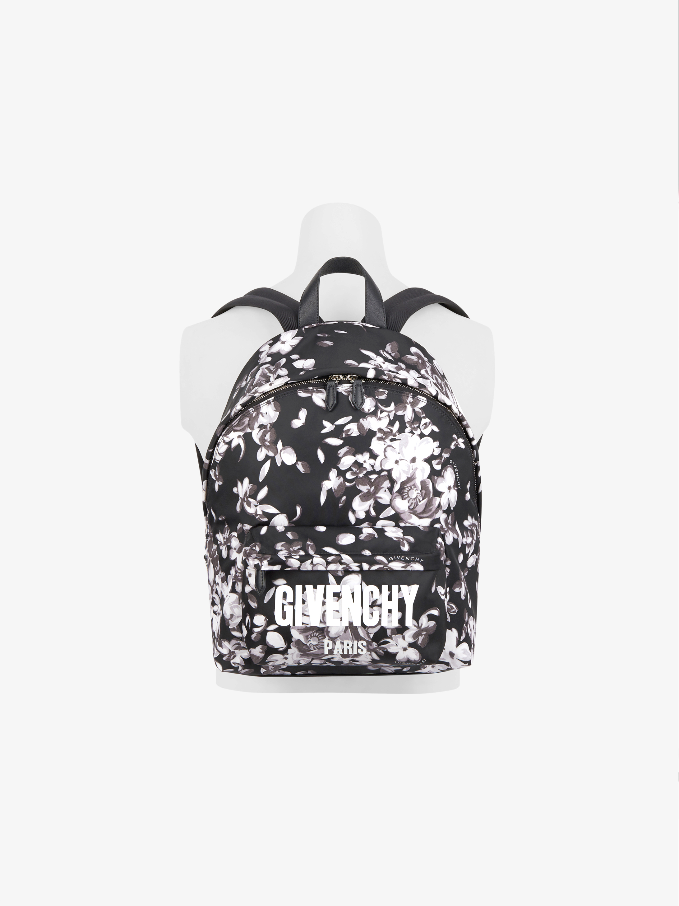 GIVENCHY PARIS flowers printed backpack