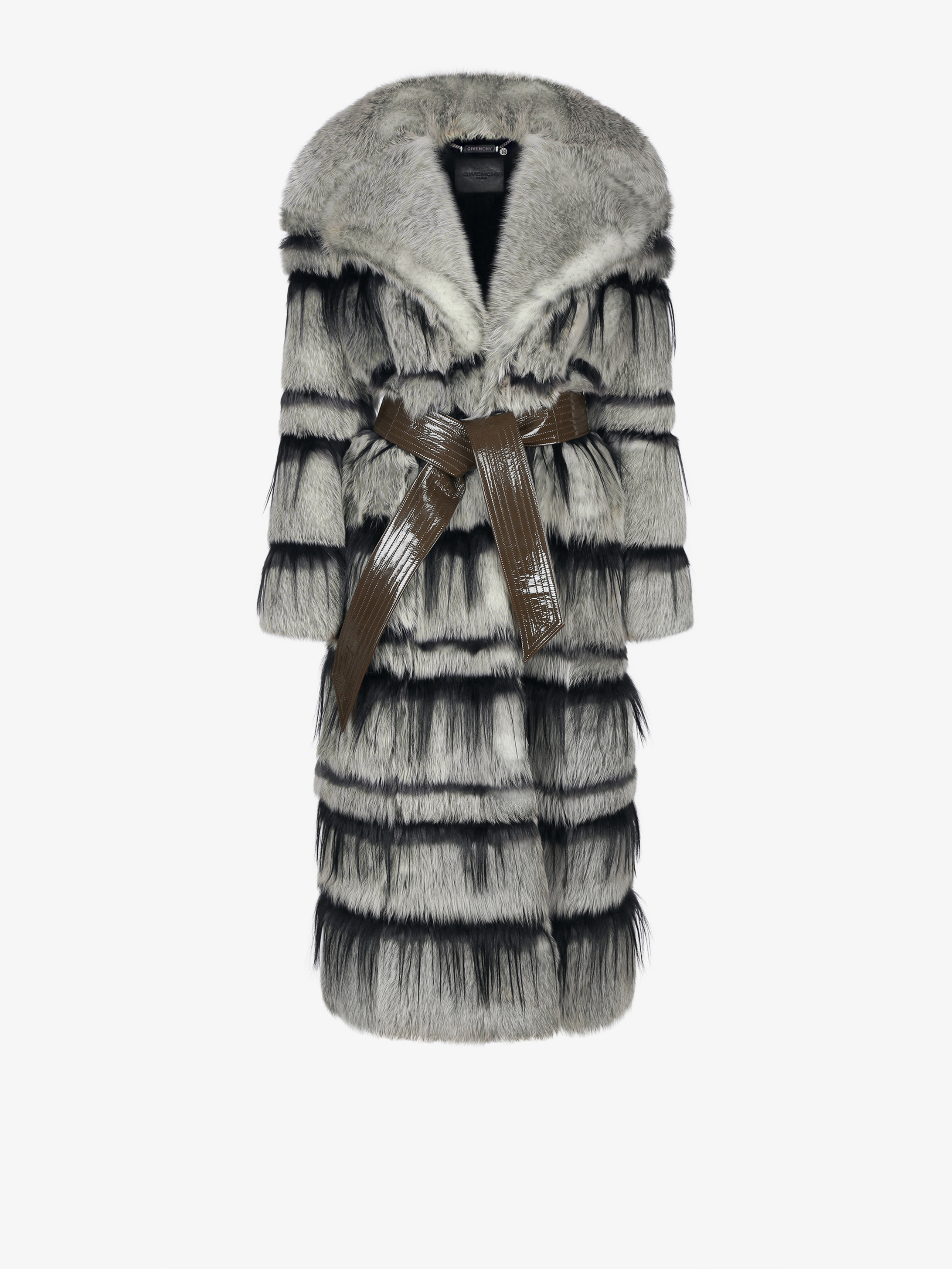 Coat in shearling
