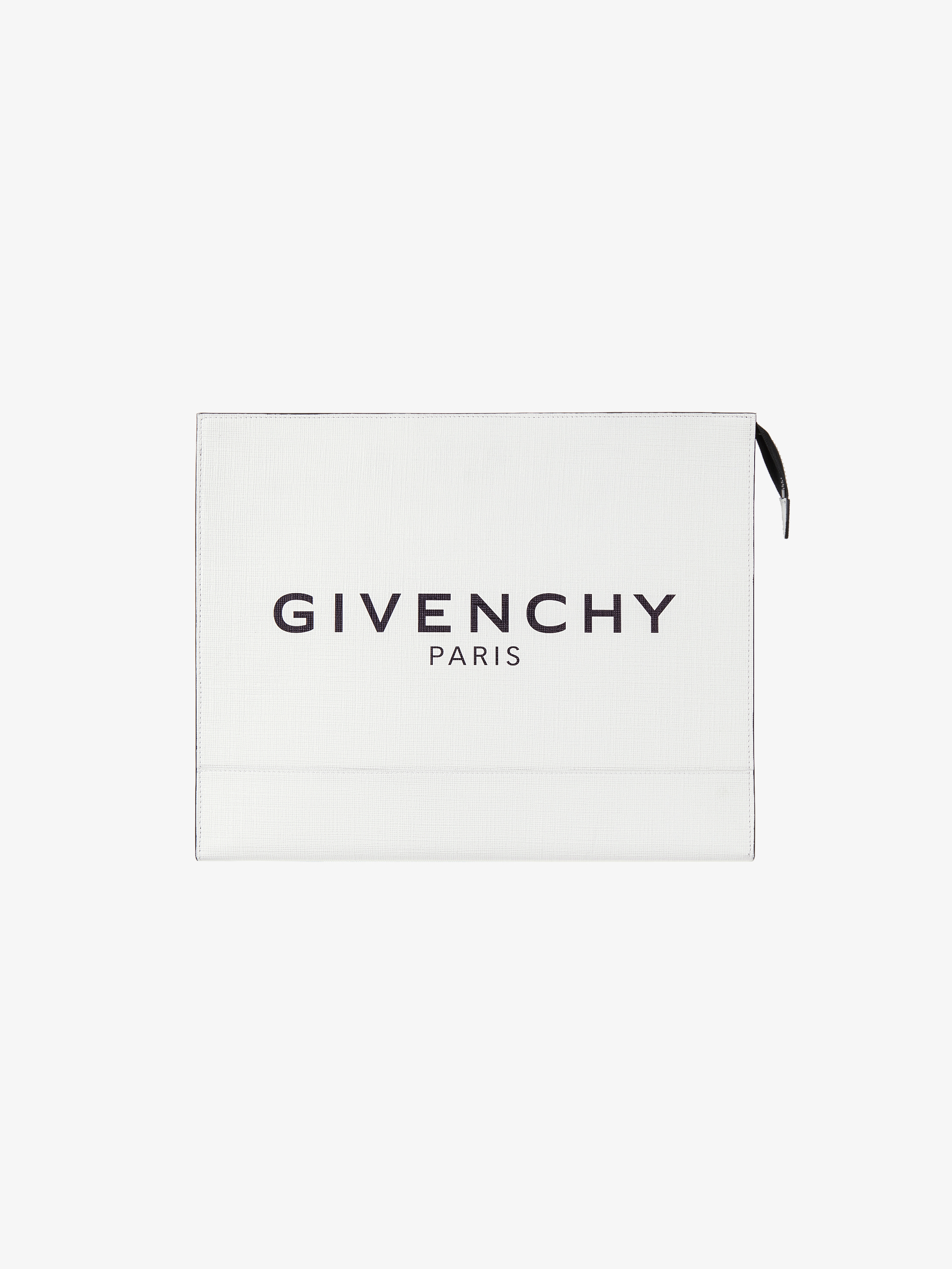 GIVENCHY PARIS glow in the dark large pouch with accordion pleat