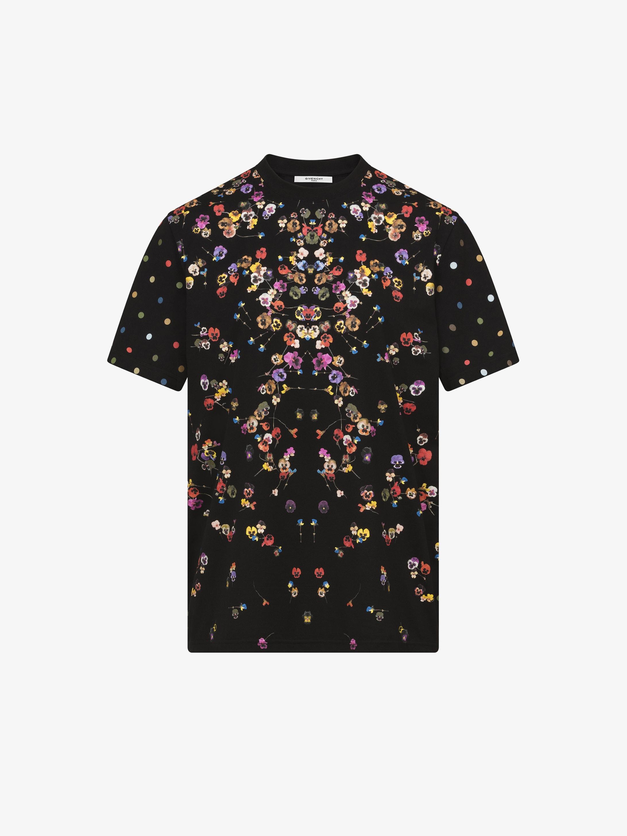 T-shirt con stampa fiori