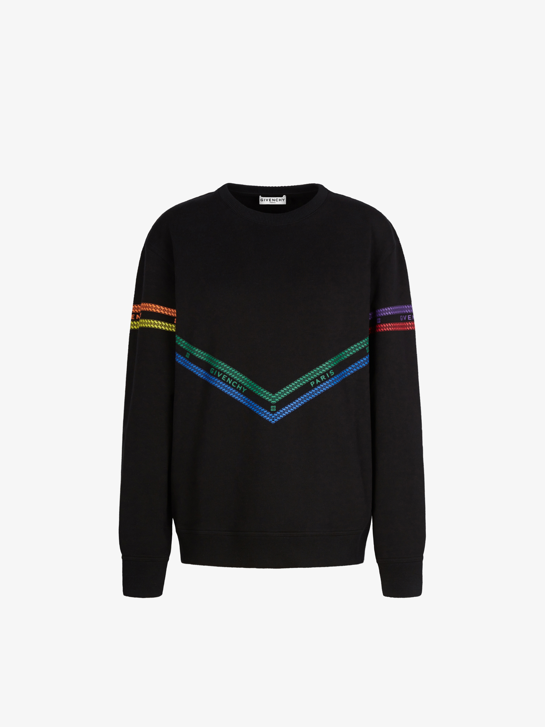 GIVENCHY multicolored Chain printed sweatshirt