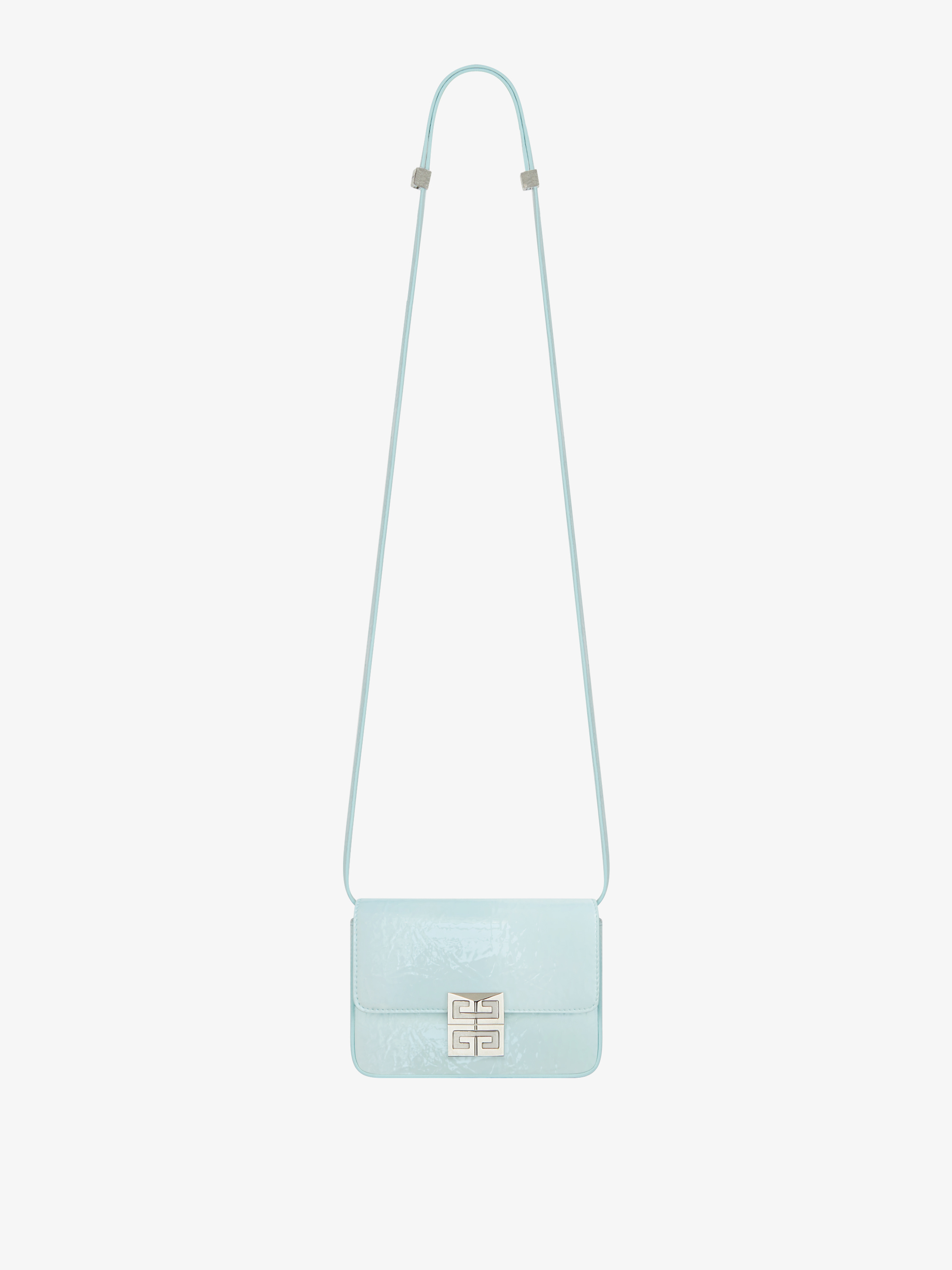 Small 4G bag in shinny textured leather