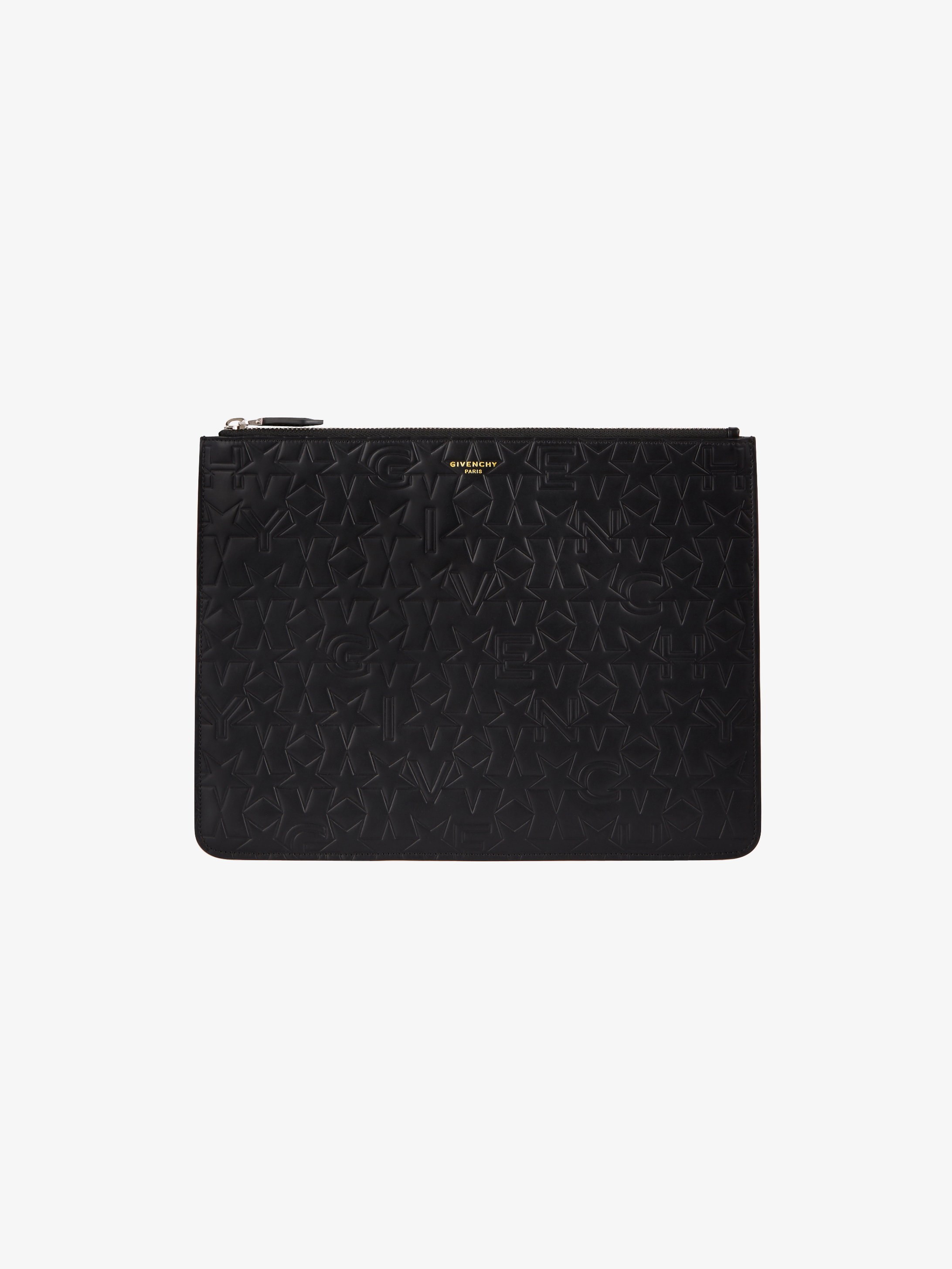 Large GIVENCHY & Stars embossed pouch
