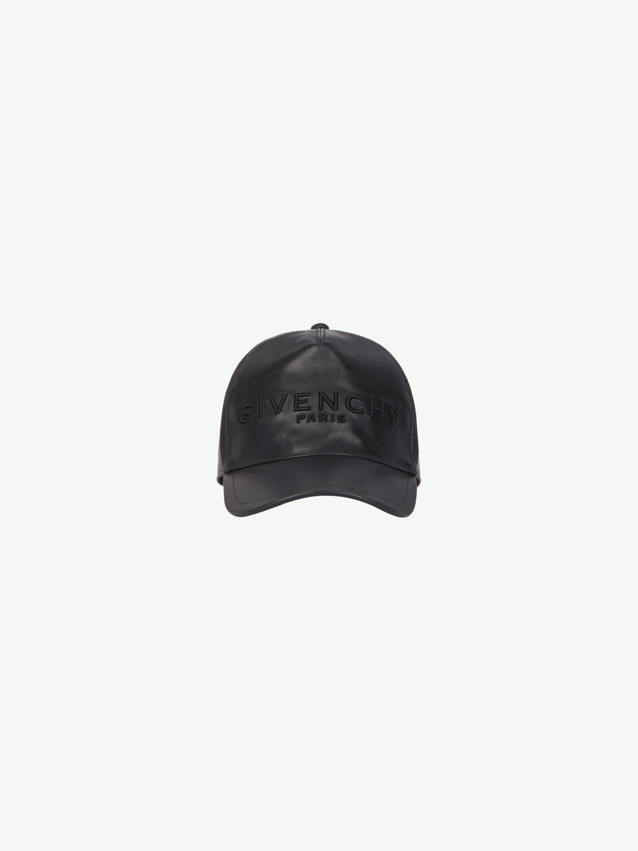 GIVENCHY PARIS embroidered cap in leather