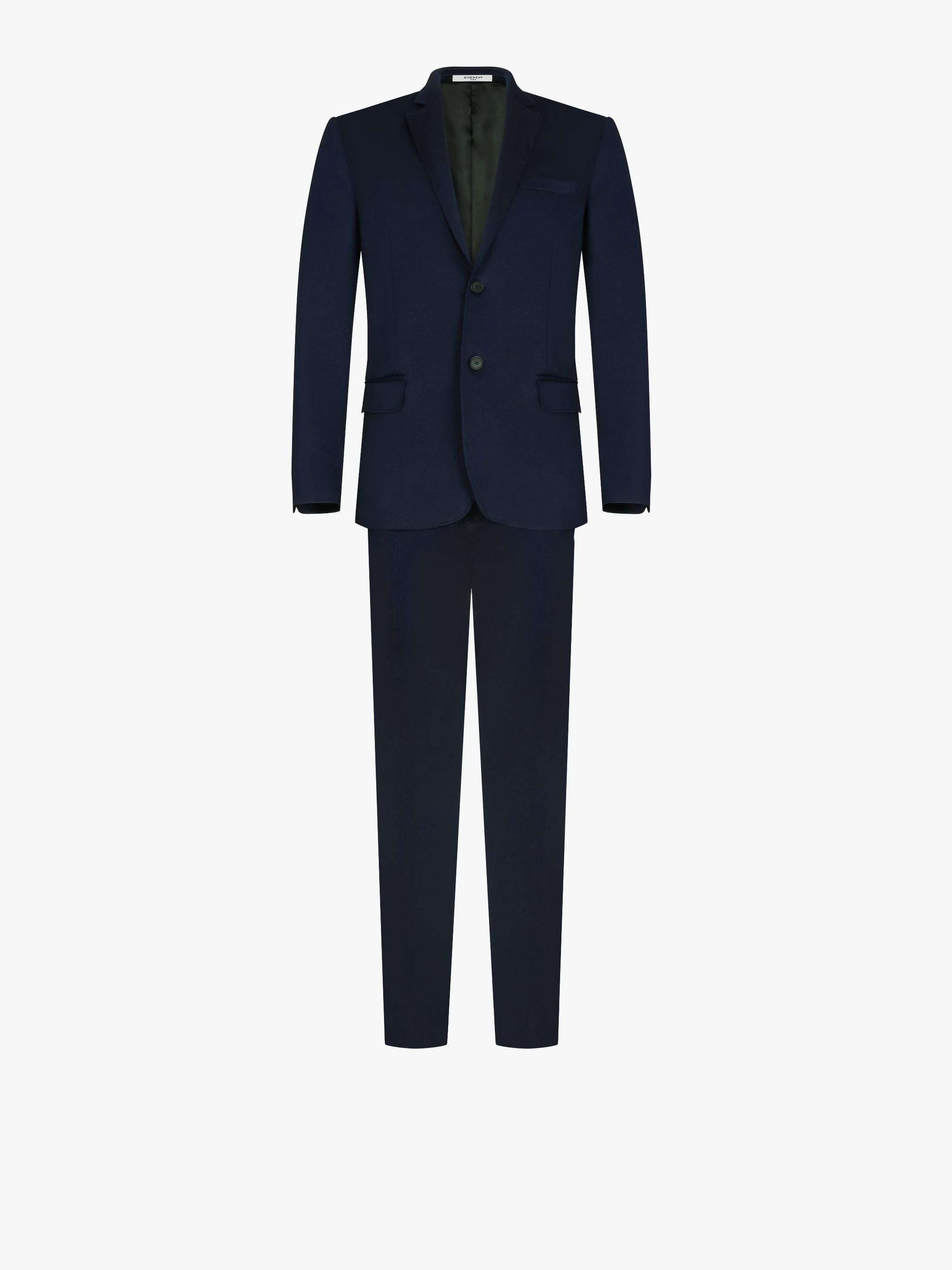 Regular fit supple jersey suit