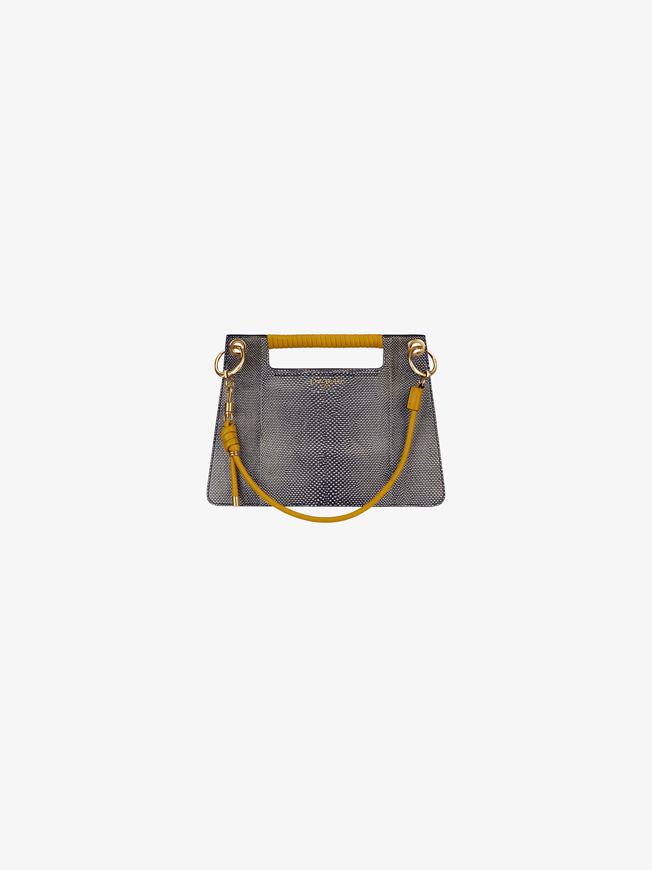 Medium Whip bag in karung skin and leather