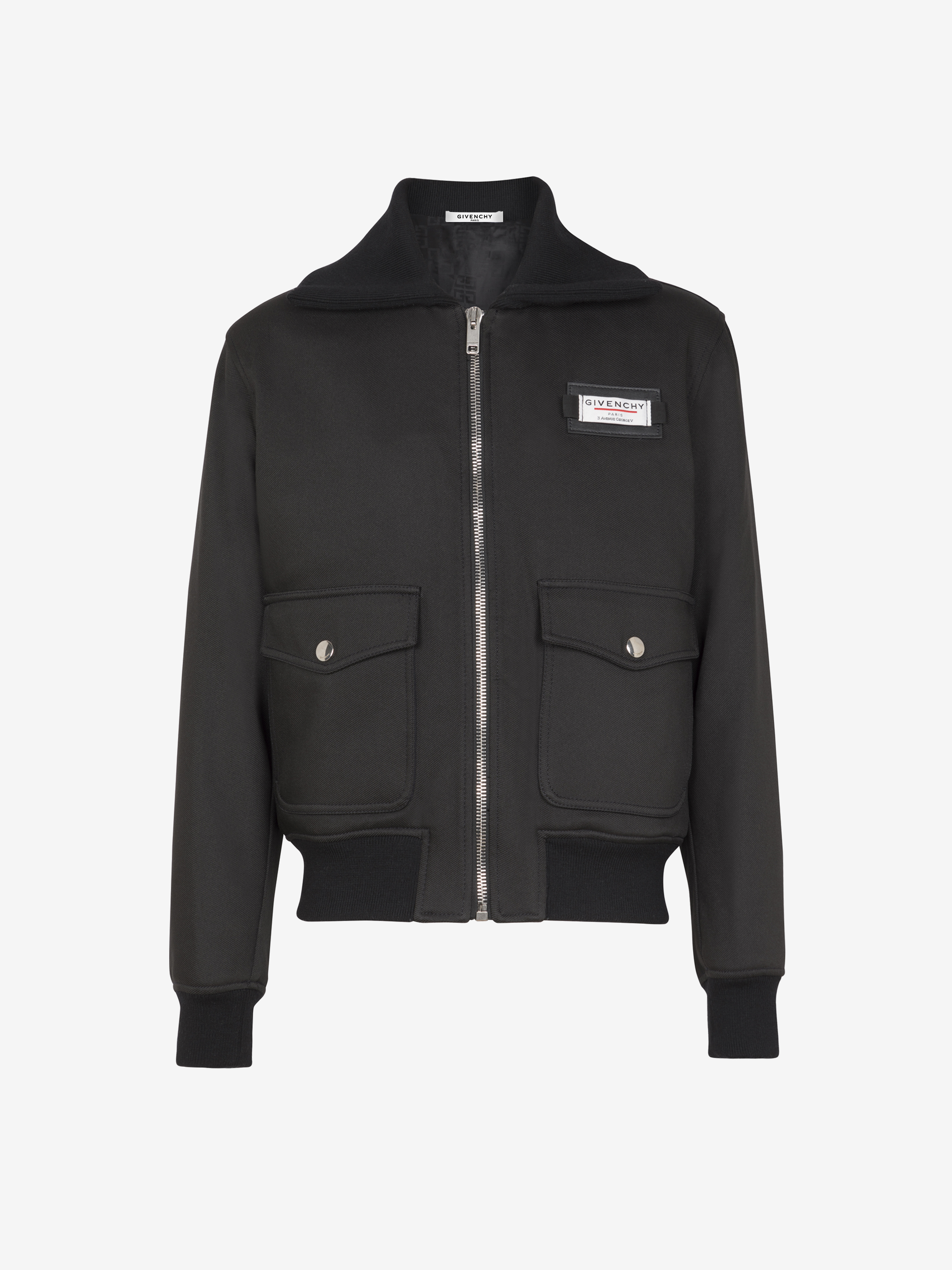 GIVENCHY Label patch bomber in wool