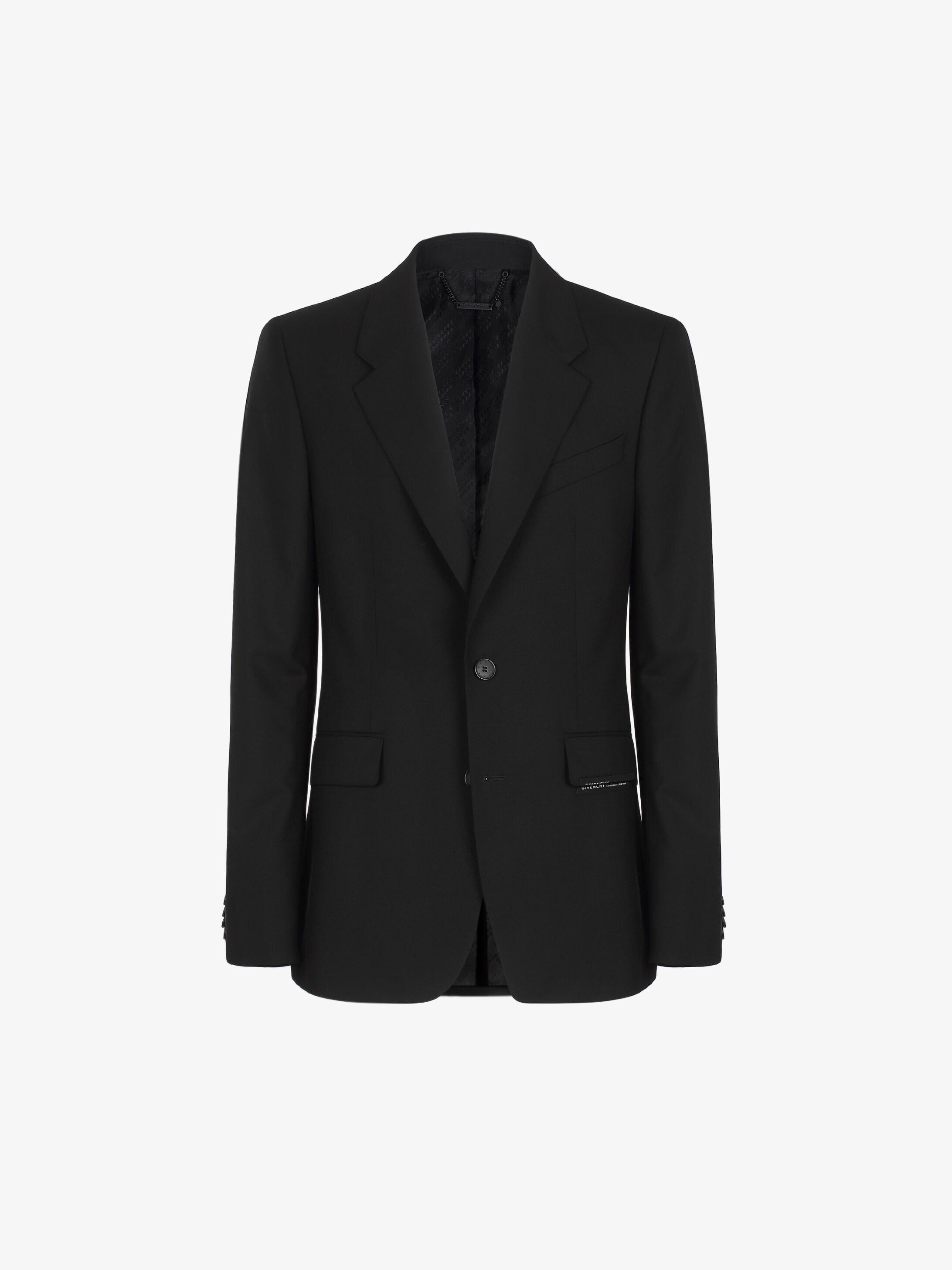 GIVENCHY ADDRESS jacket in embellished super 120's wool