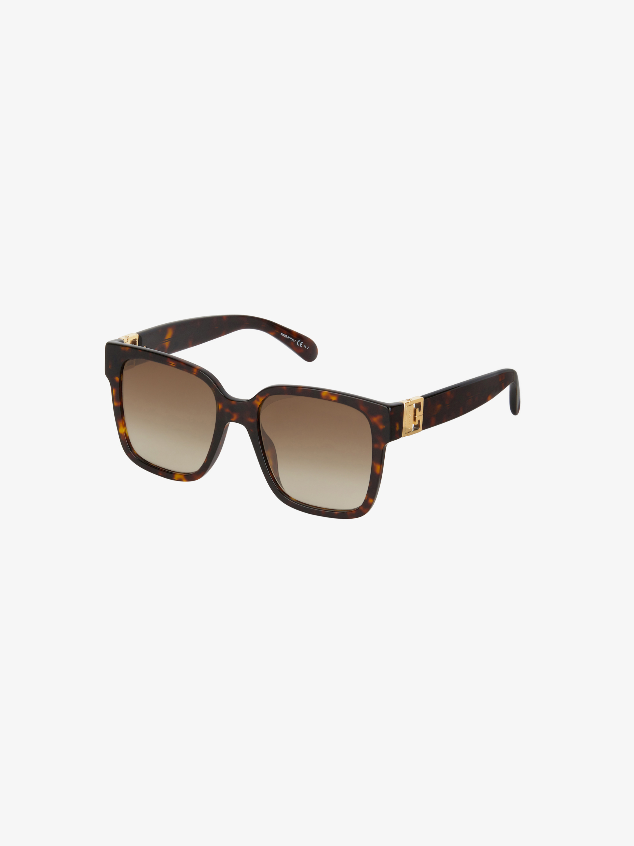Two tone GV3 square sunglasses in acetate