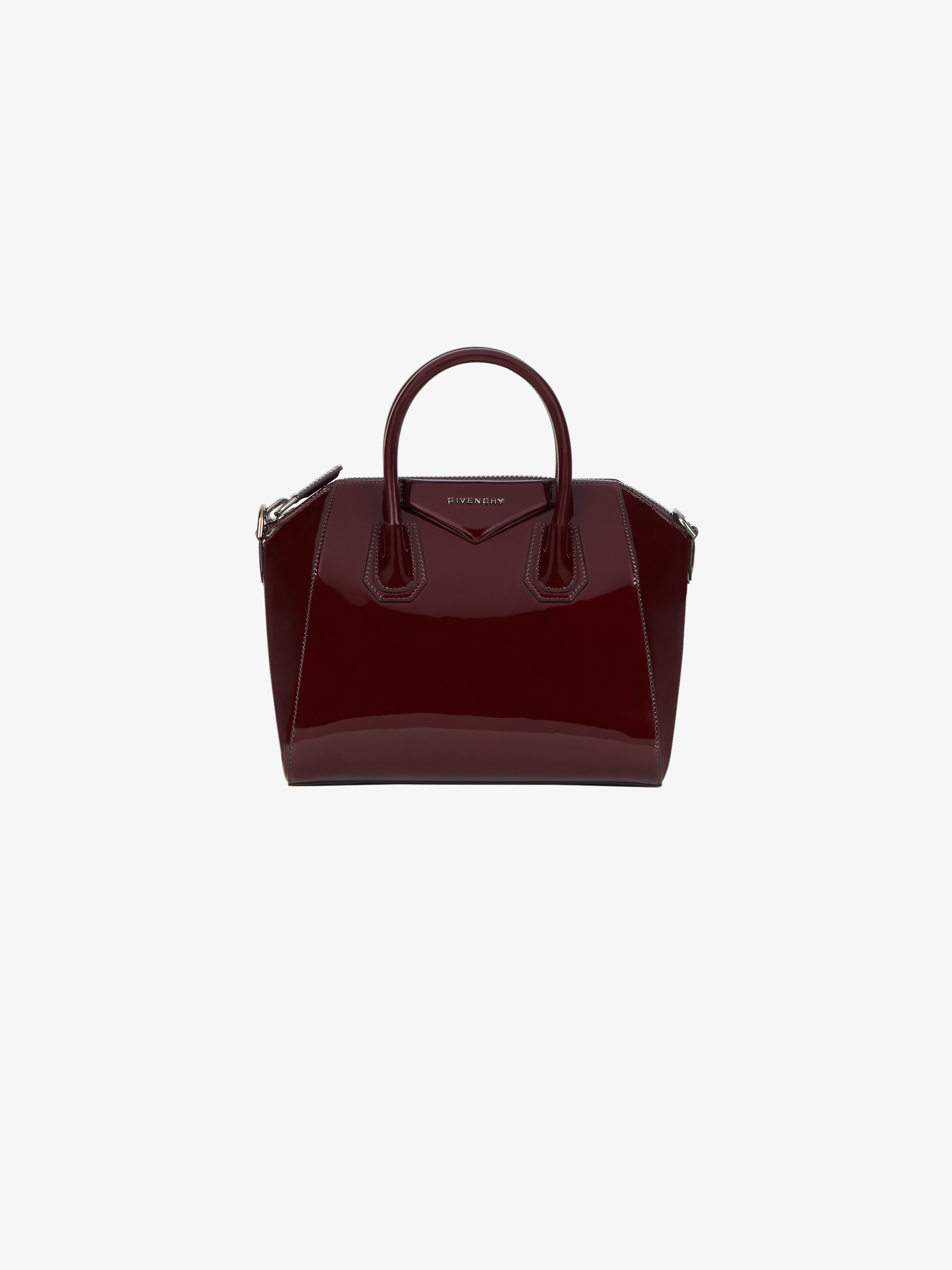 Small Antigona bag in varnished leather