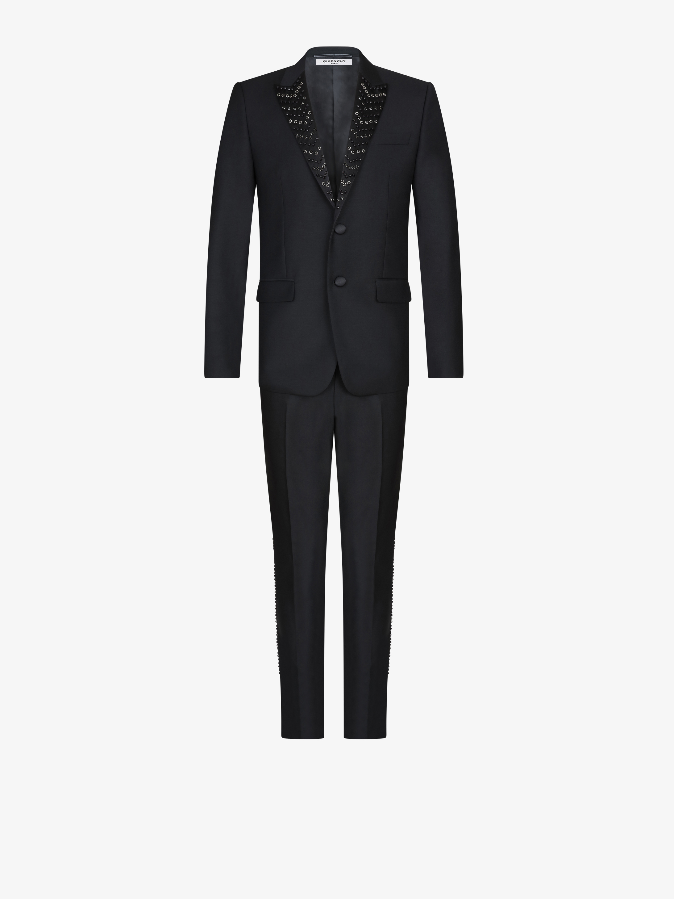 Slim fit suit with jewellery embroideries