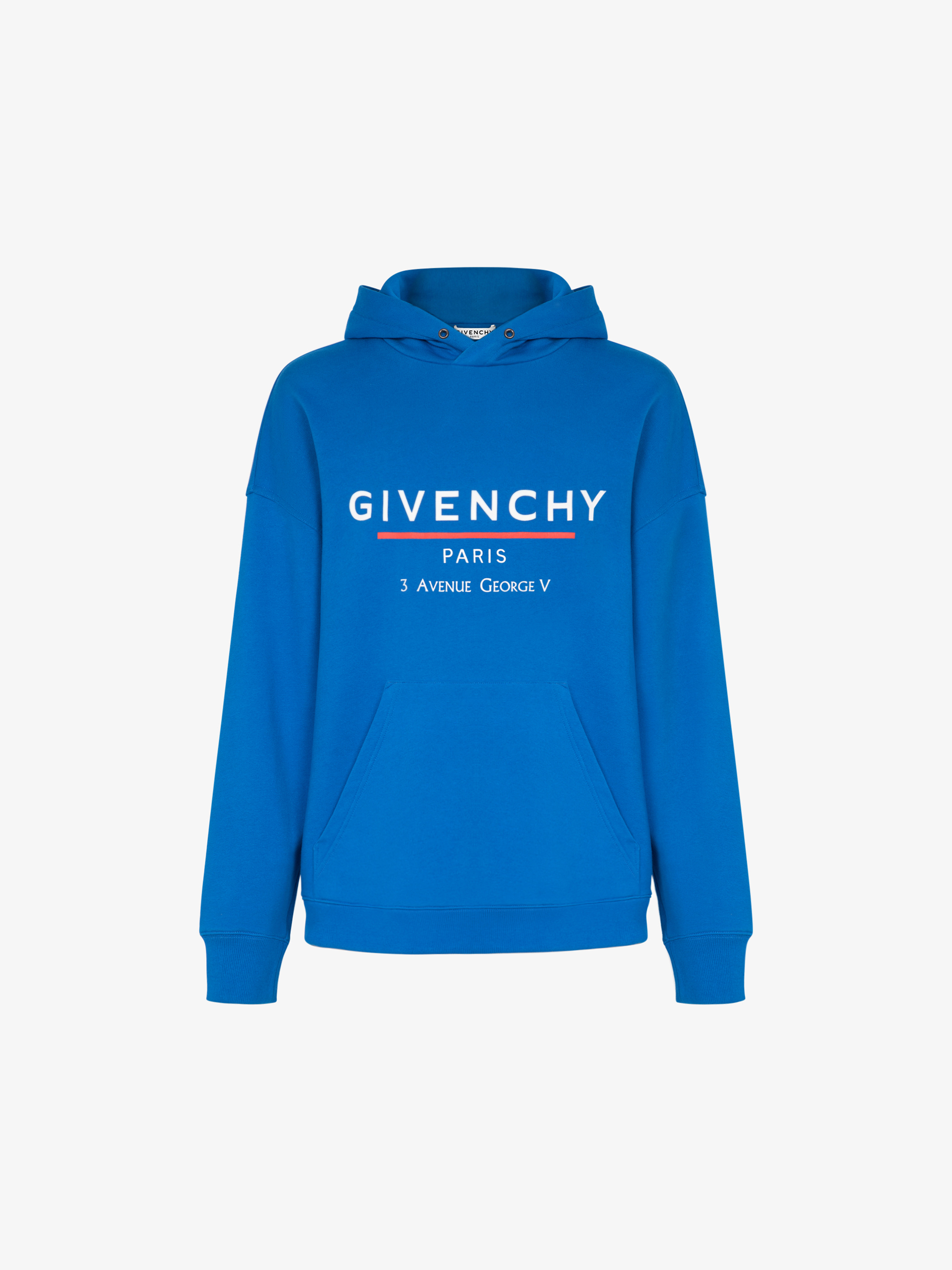 GIVENCHY Label printed hoodie