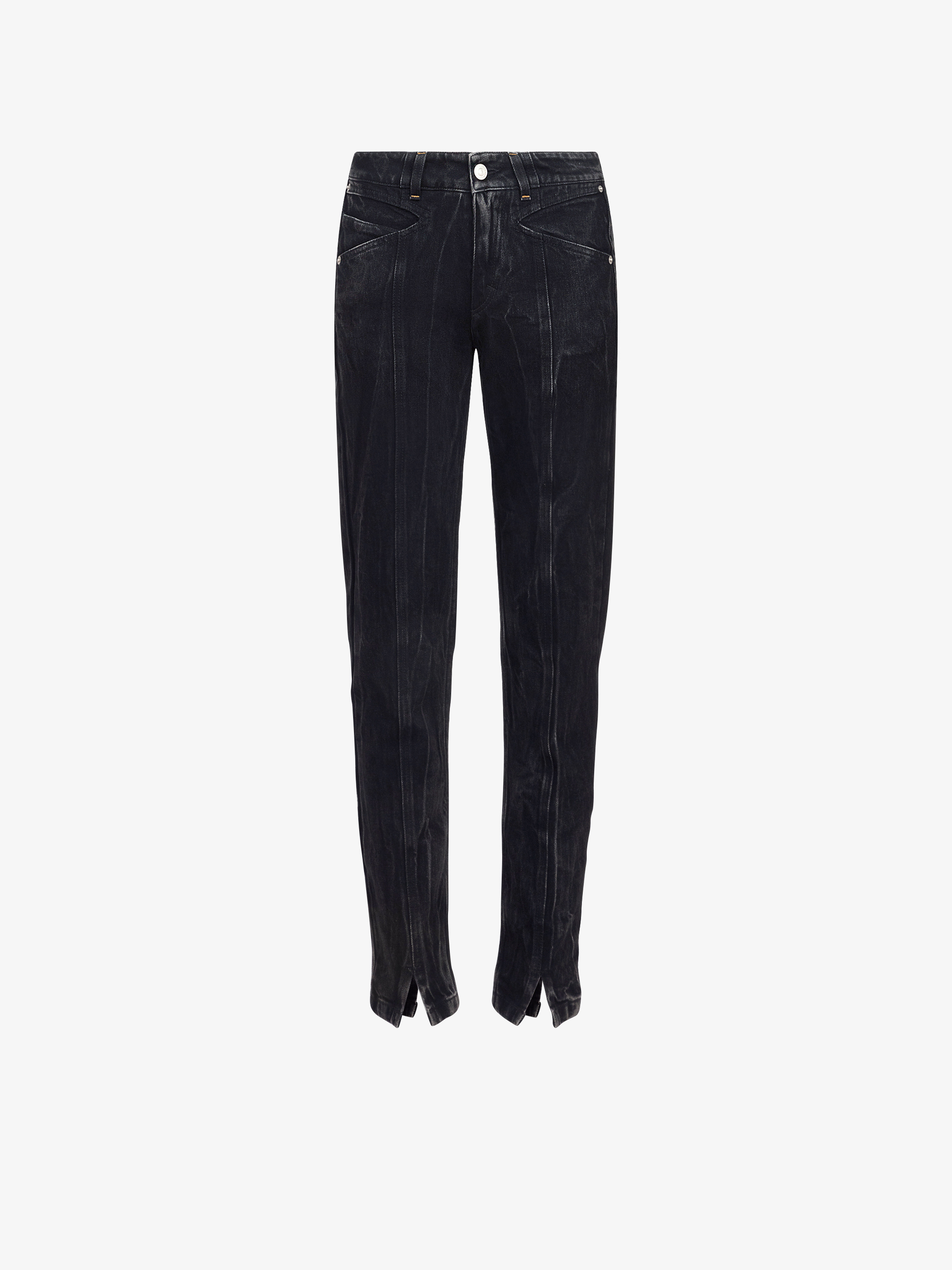 Marble denim slim fit jeans