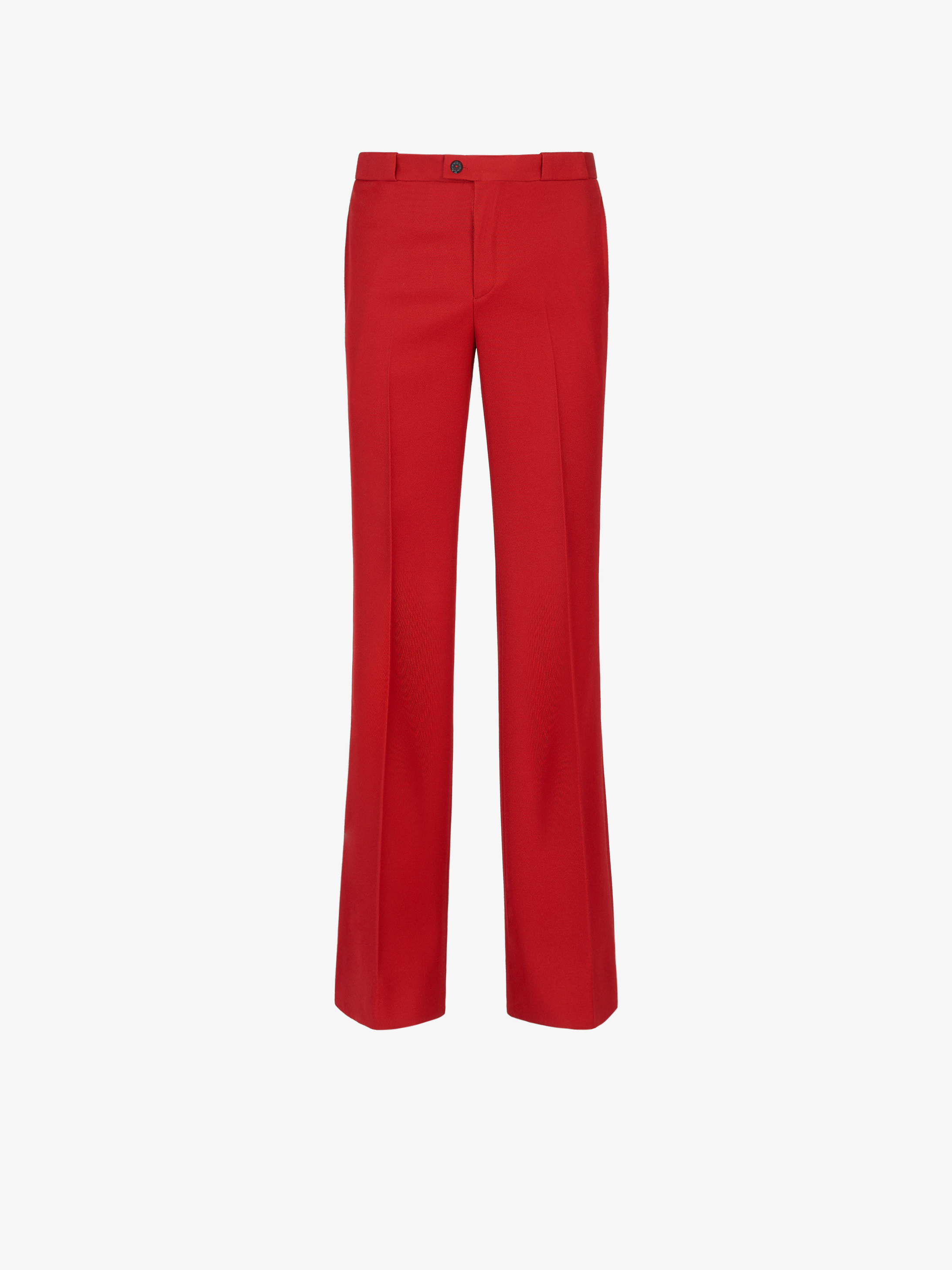 Flared pants in japanese wool