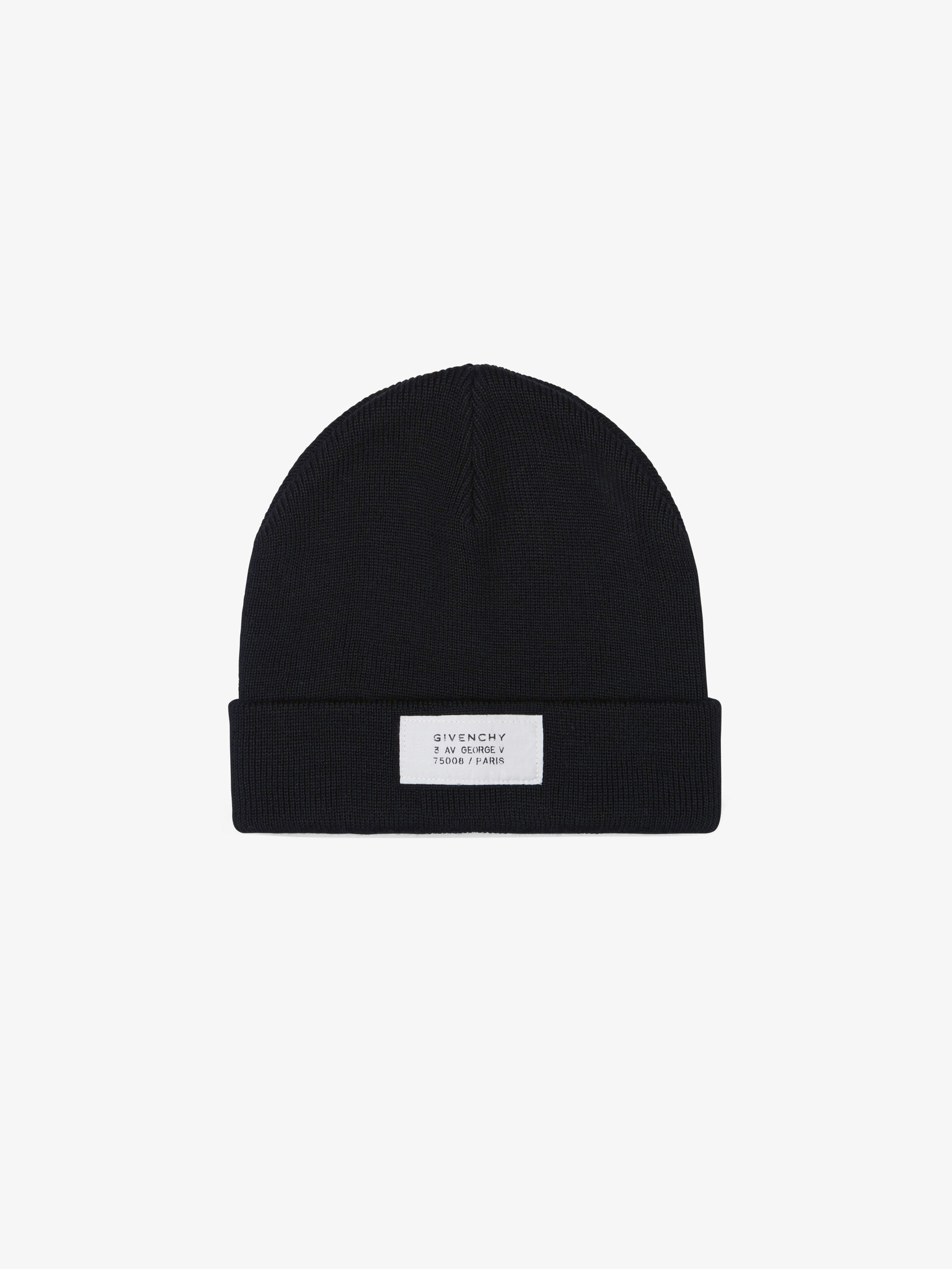GIVENCHY Atelier patch beanie