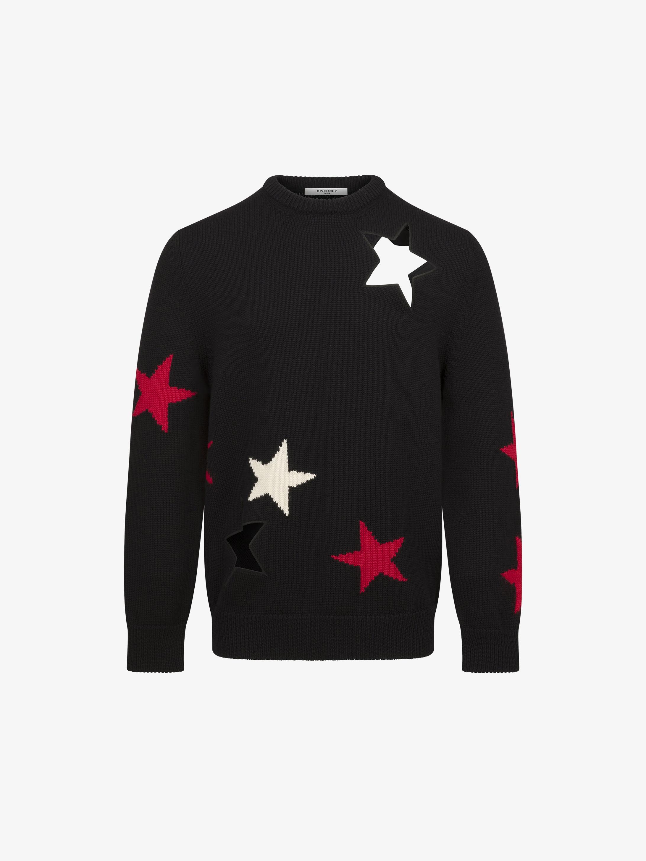 Stars crew neck jumper