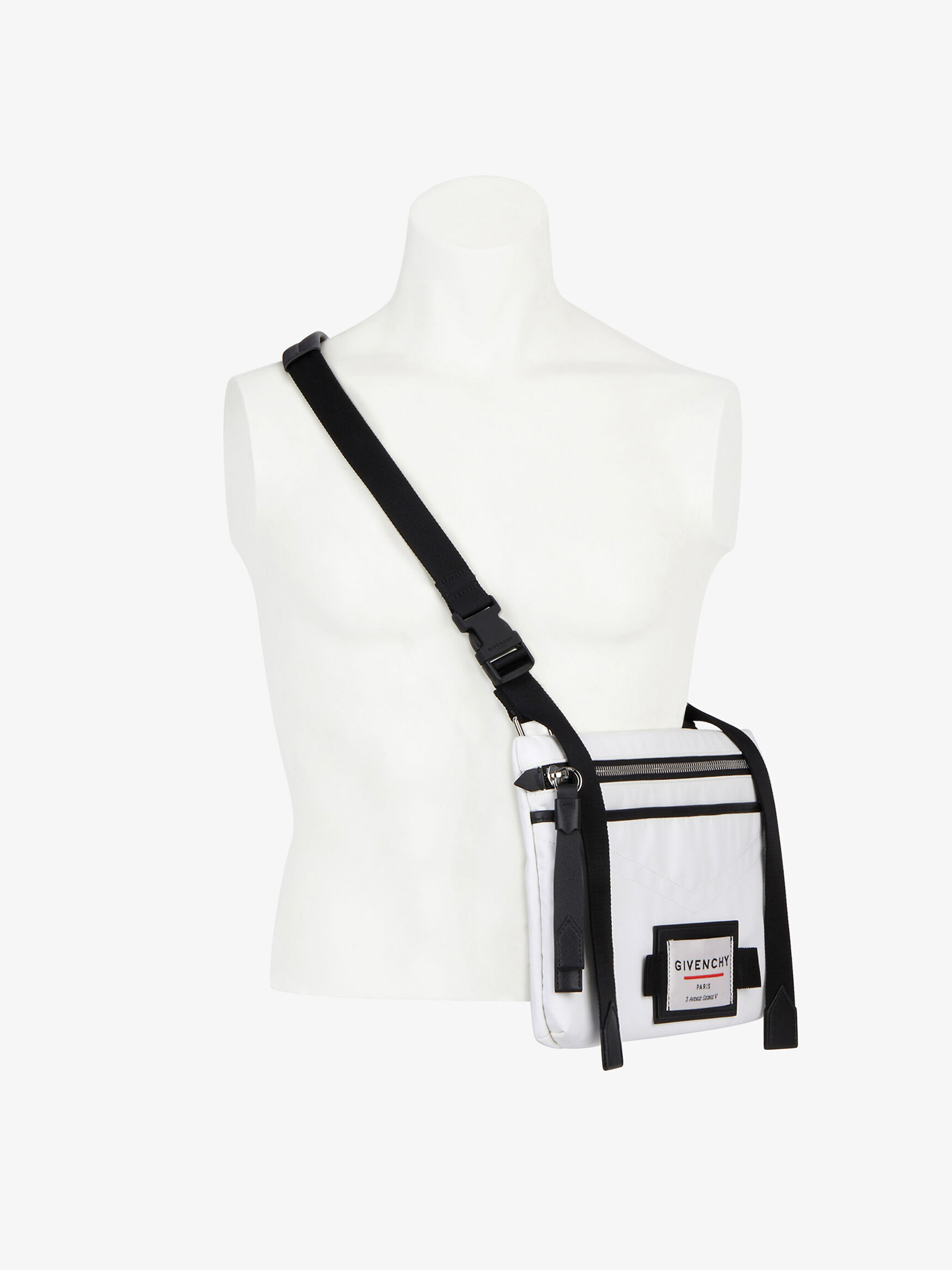 GIVENCHY DOWNTOWN flat cross body bag in nylon