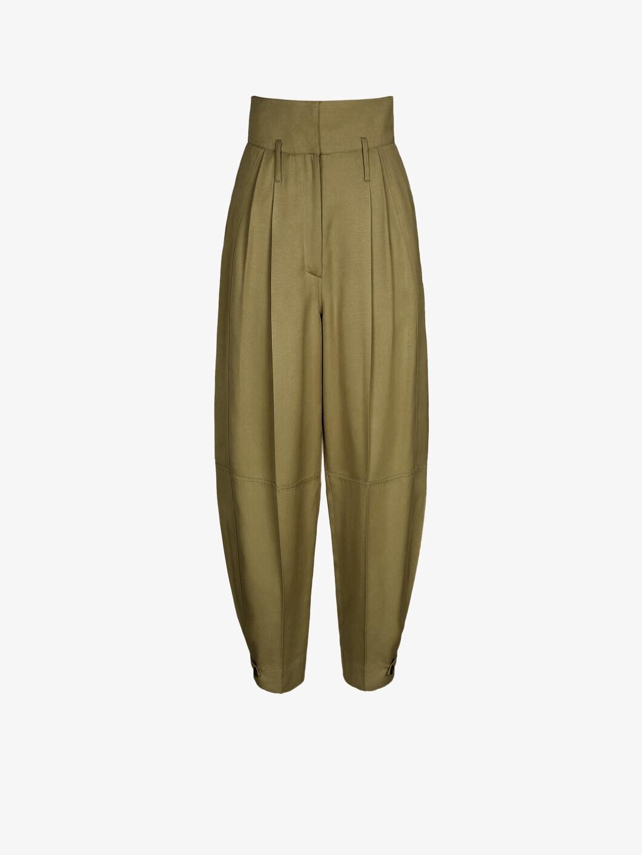 Pantalon militaire à taille haute