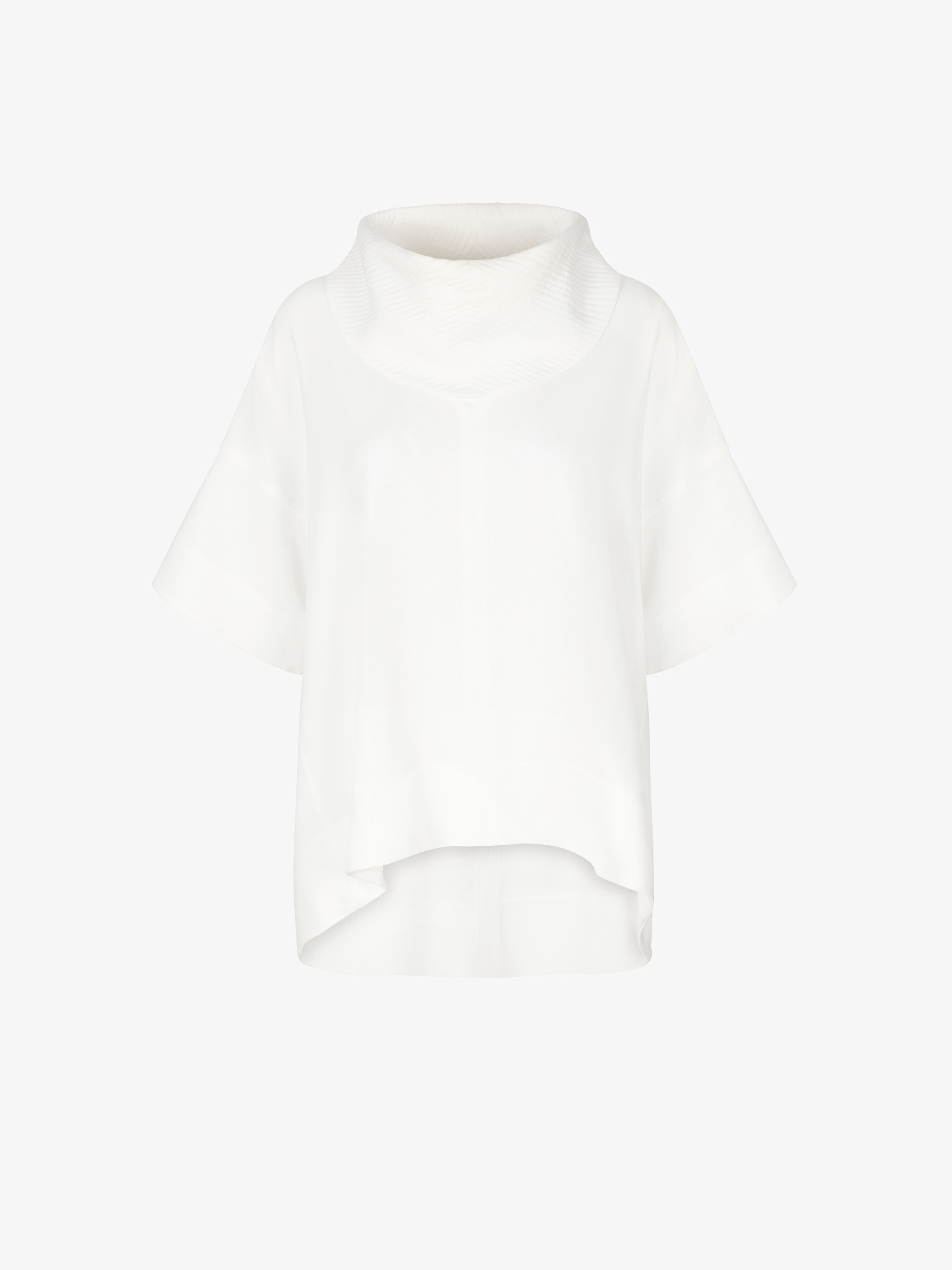 Oversized topstitched collar top