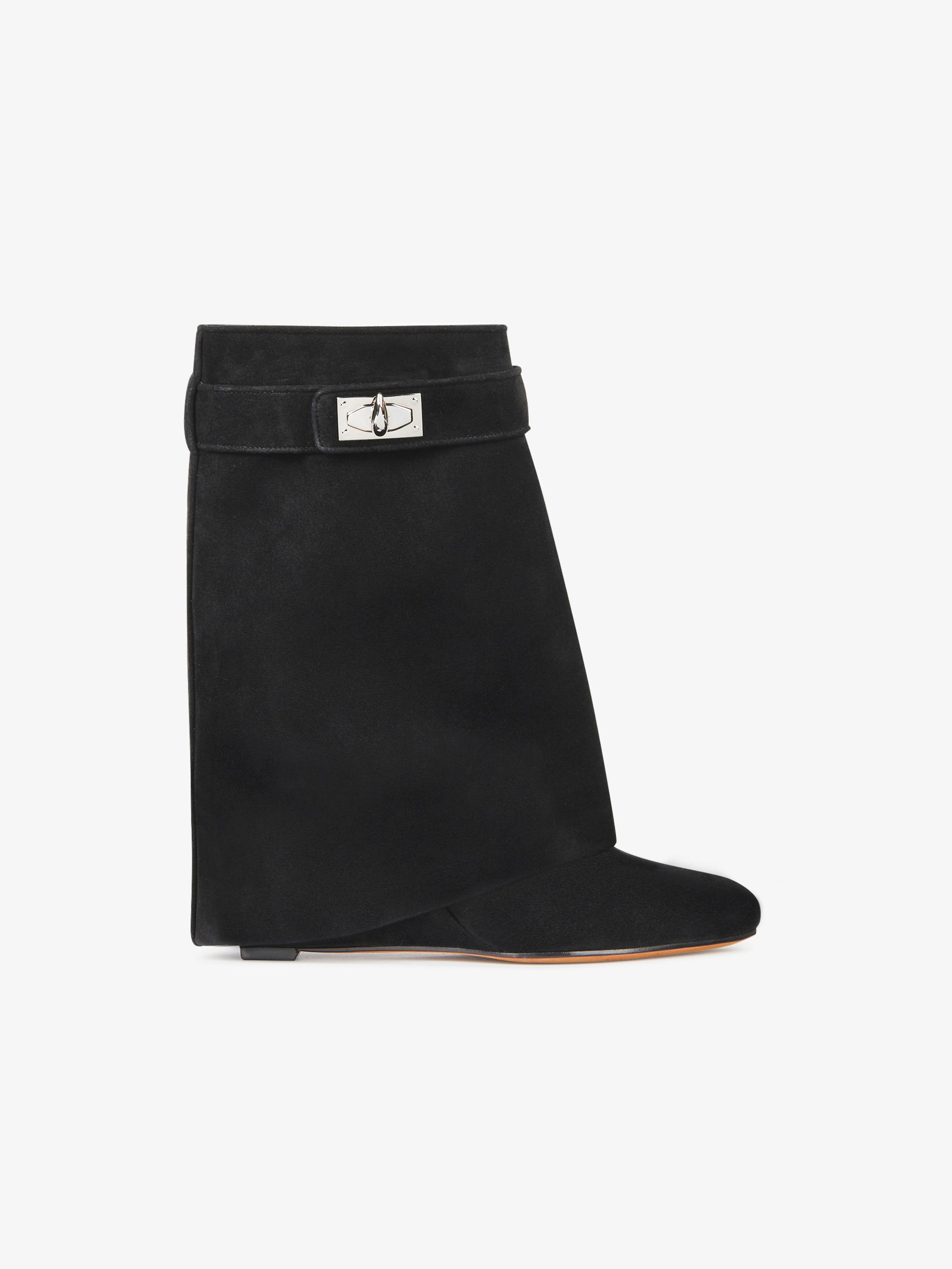 Shark Lock boots in suede