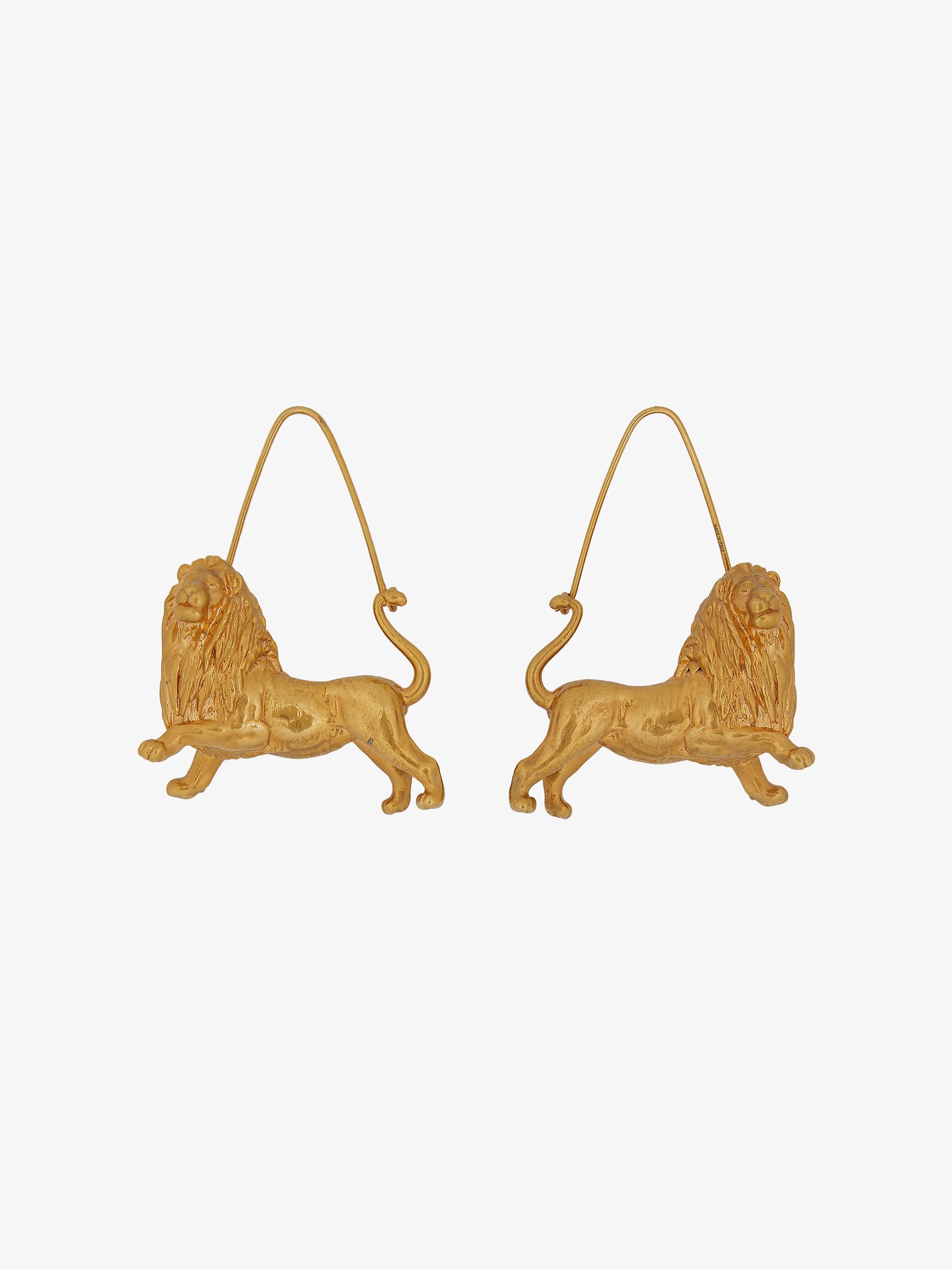 Boucles d'oreilles zodiaque Lion