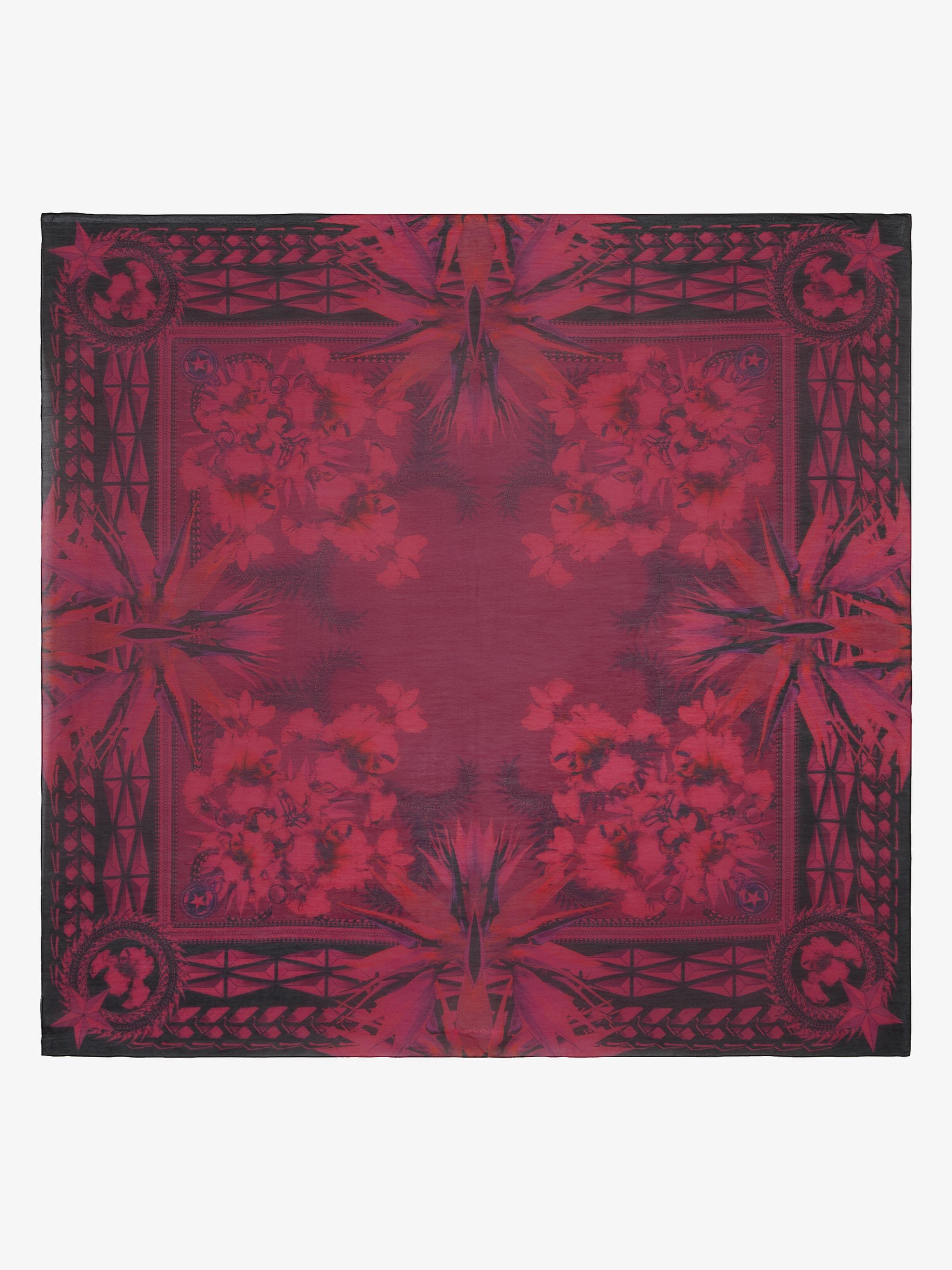 Iris printed large scarf