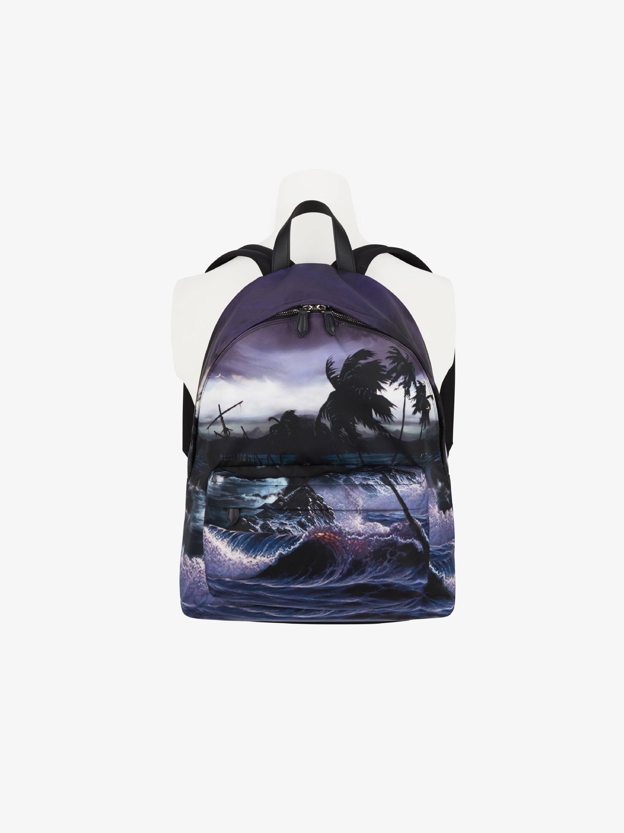 Hawaï printed backpack in nylon