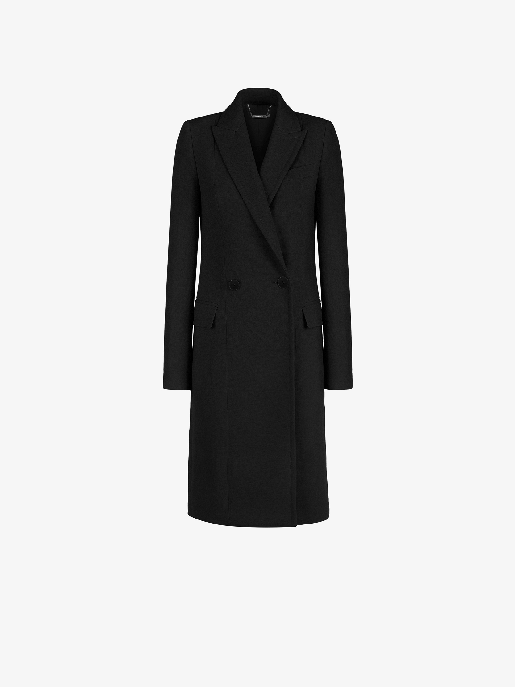 Double breasted fitted coat with 4G lining