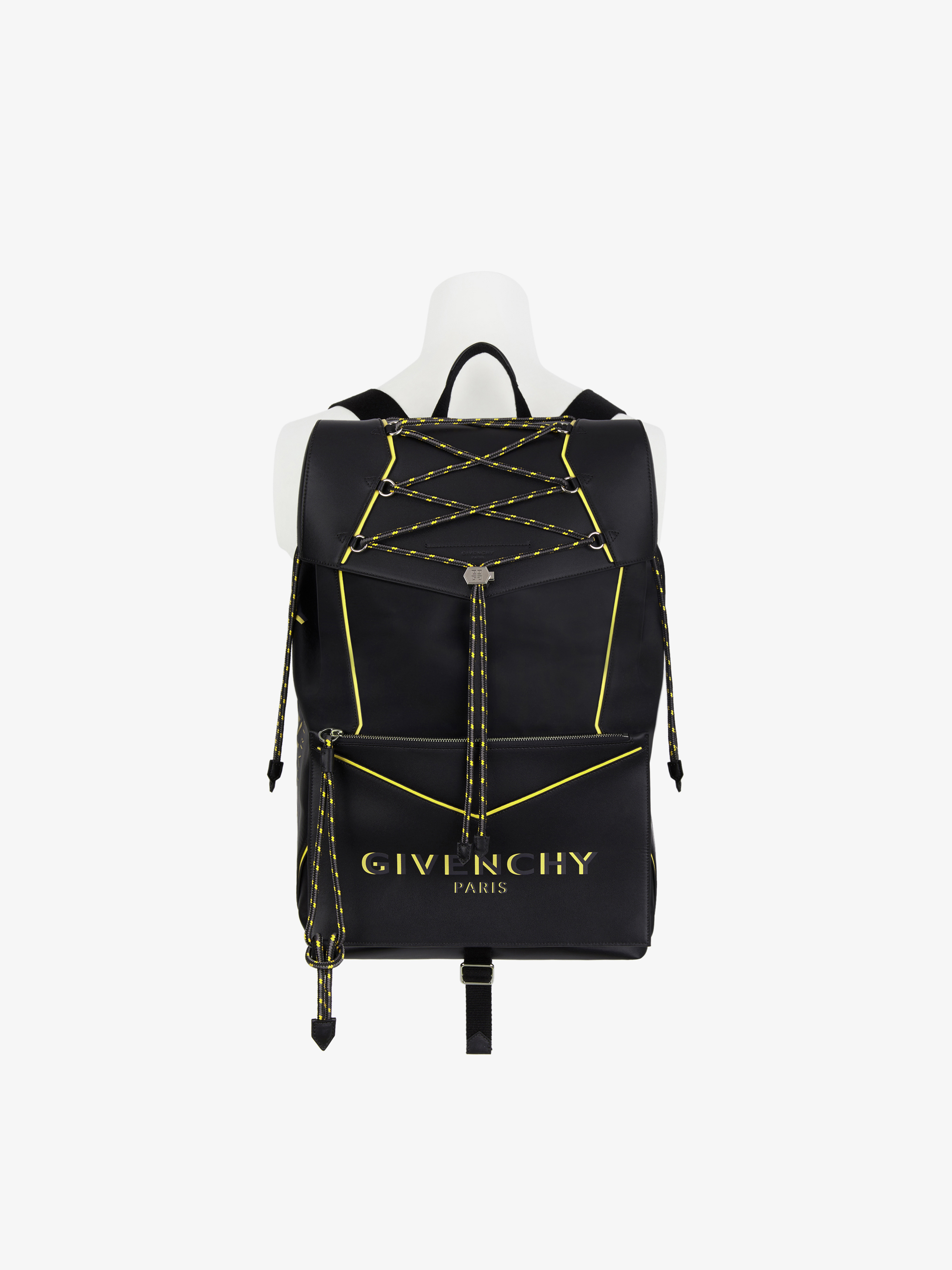 Bond large backpack in nylon and leather