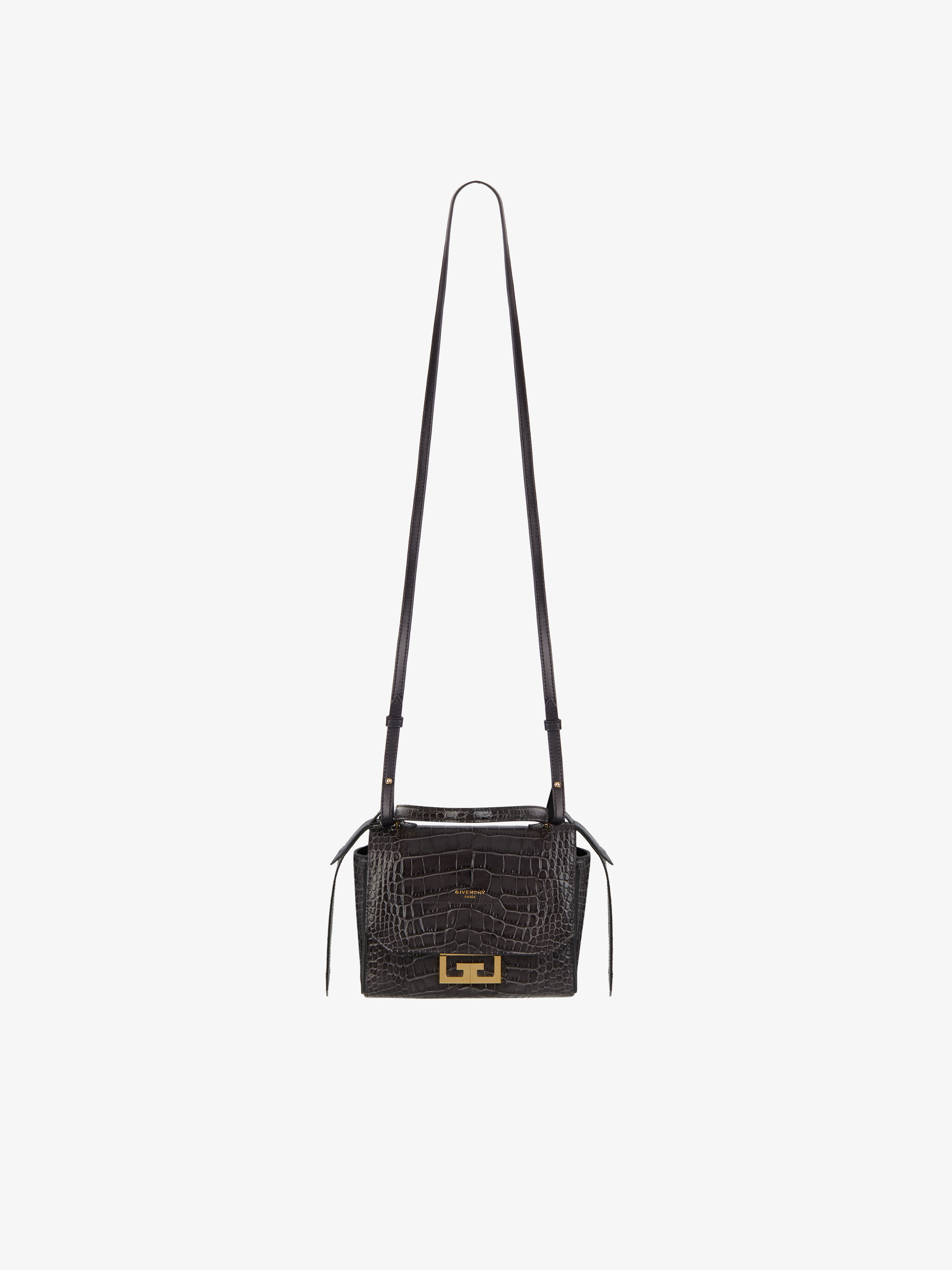 Mini Eden bag in crocodile-effect leather