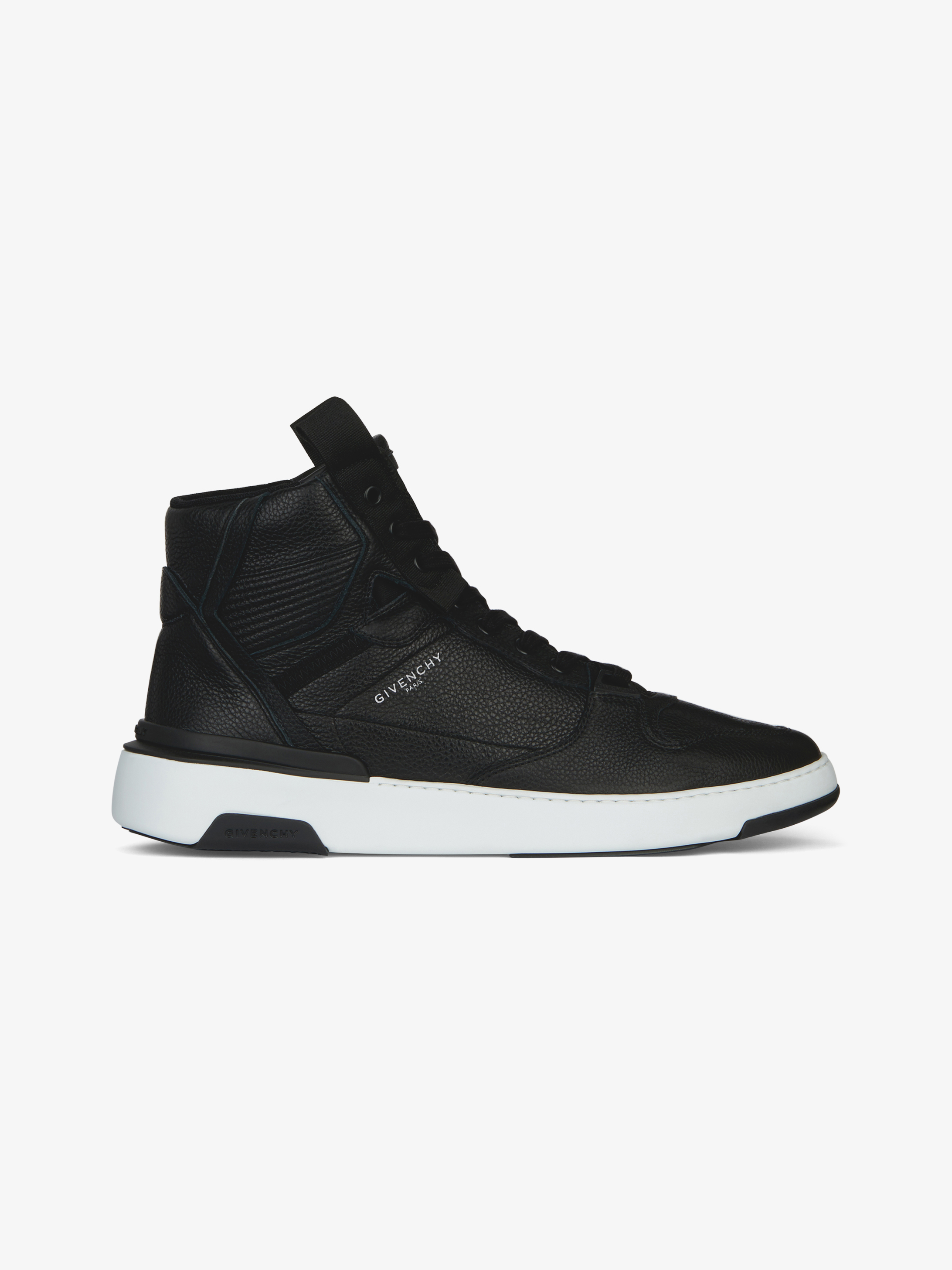 Wing mid two-tone sneakers in leather