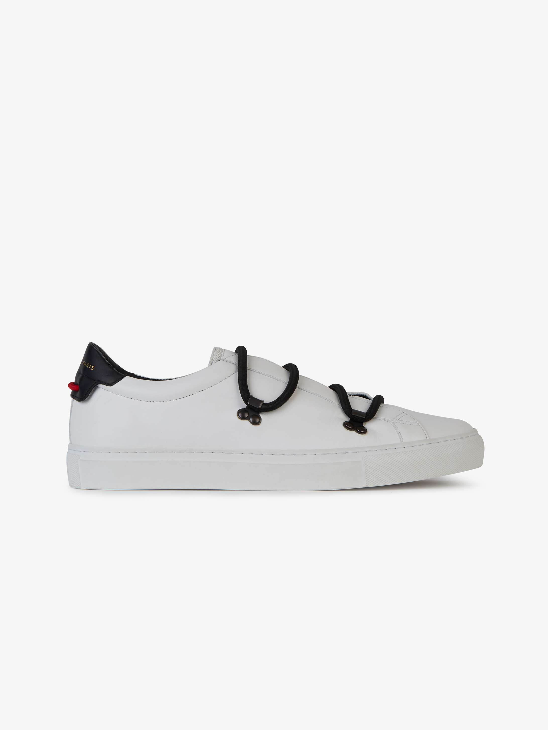Low sneakers in bicolor mat leather