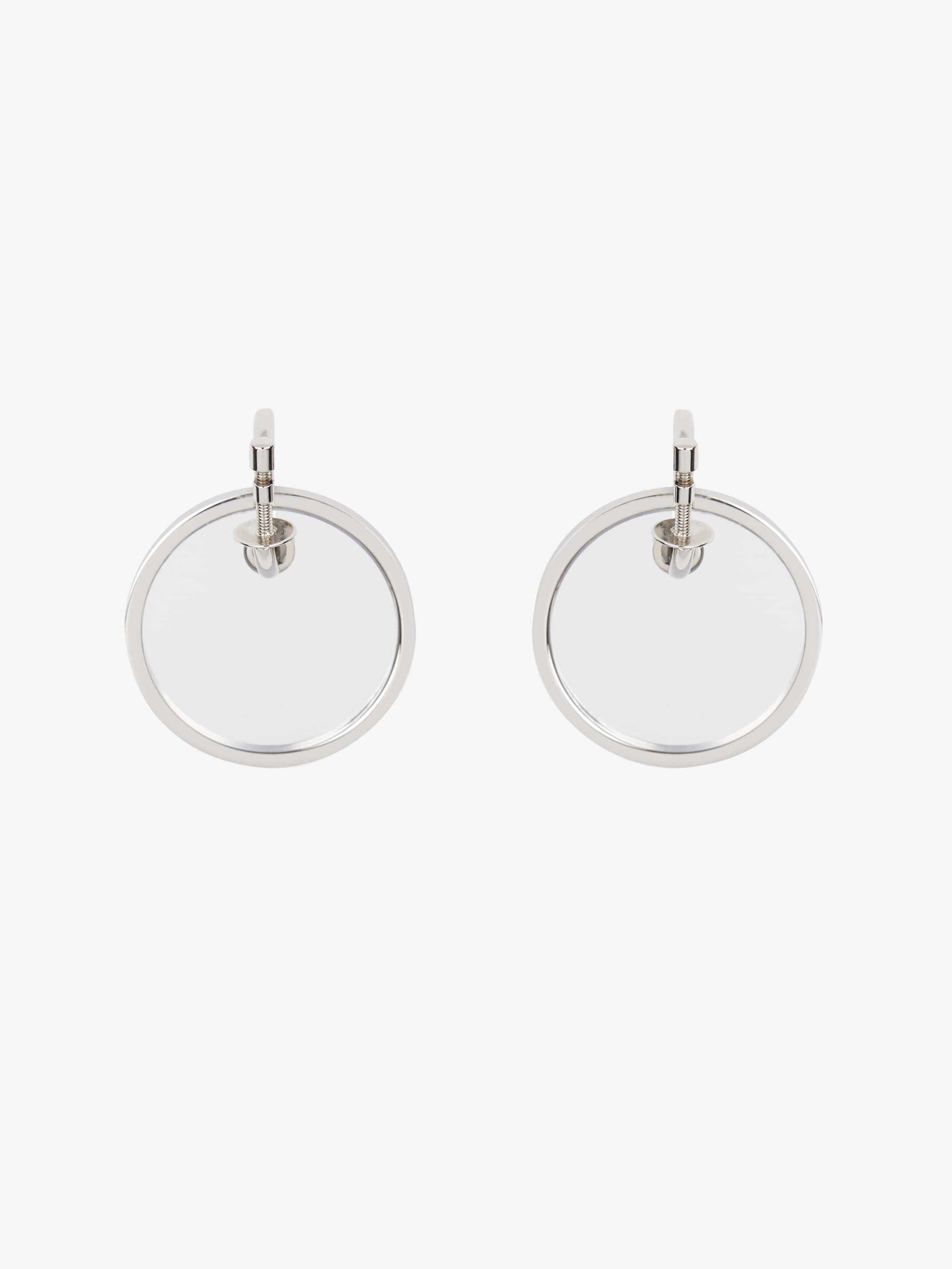 Boucles d'oreilles médailles miroir