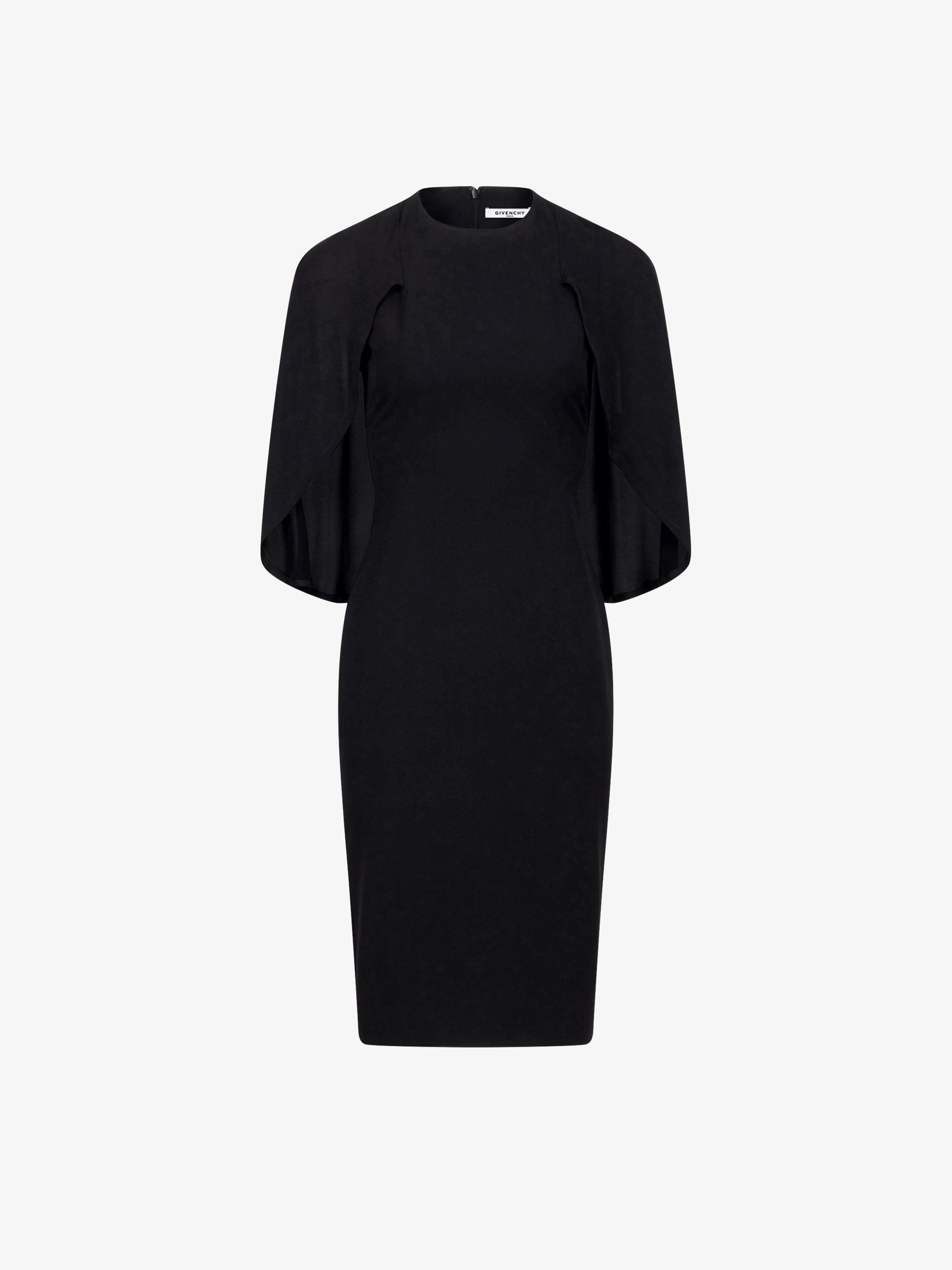 Cape-dress in silk