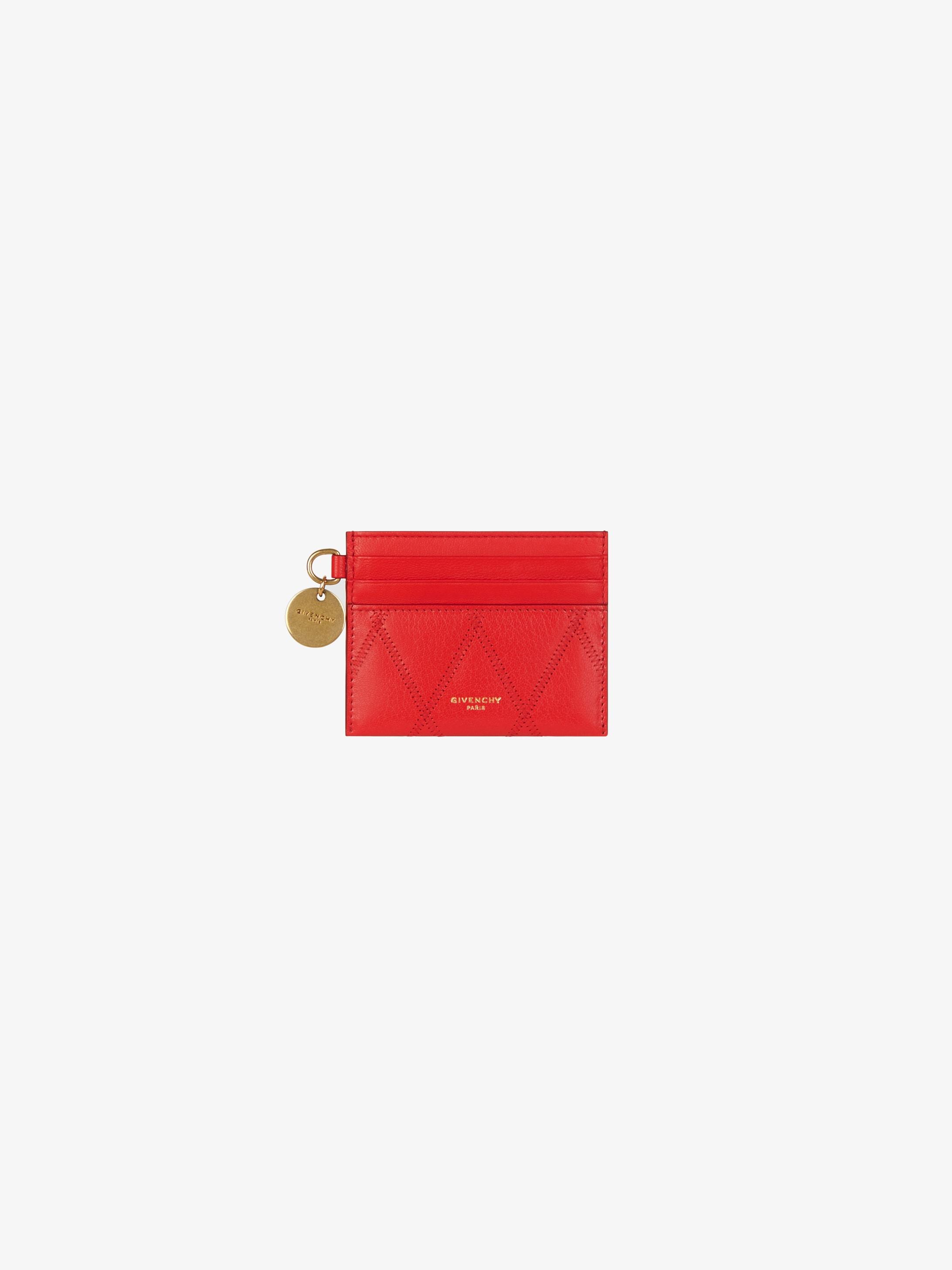 Porte-cartes GV3 en cuir matelassé