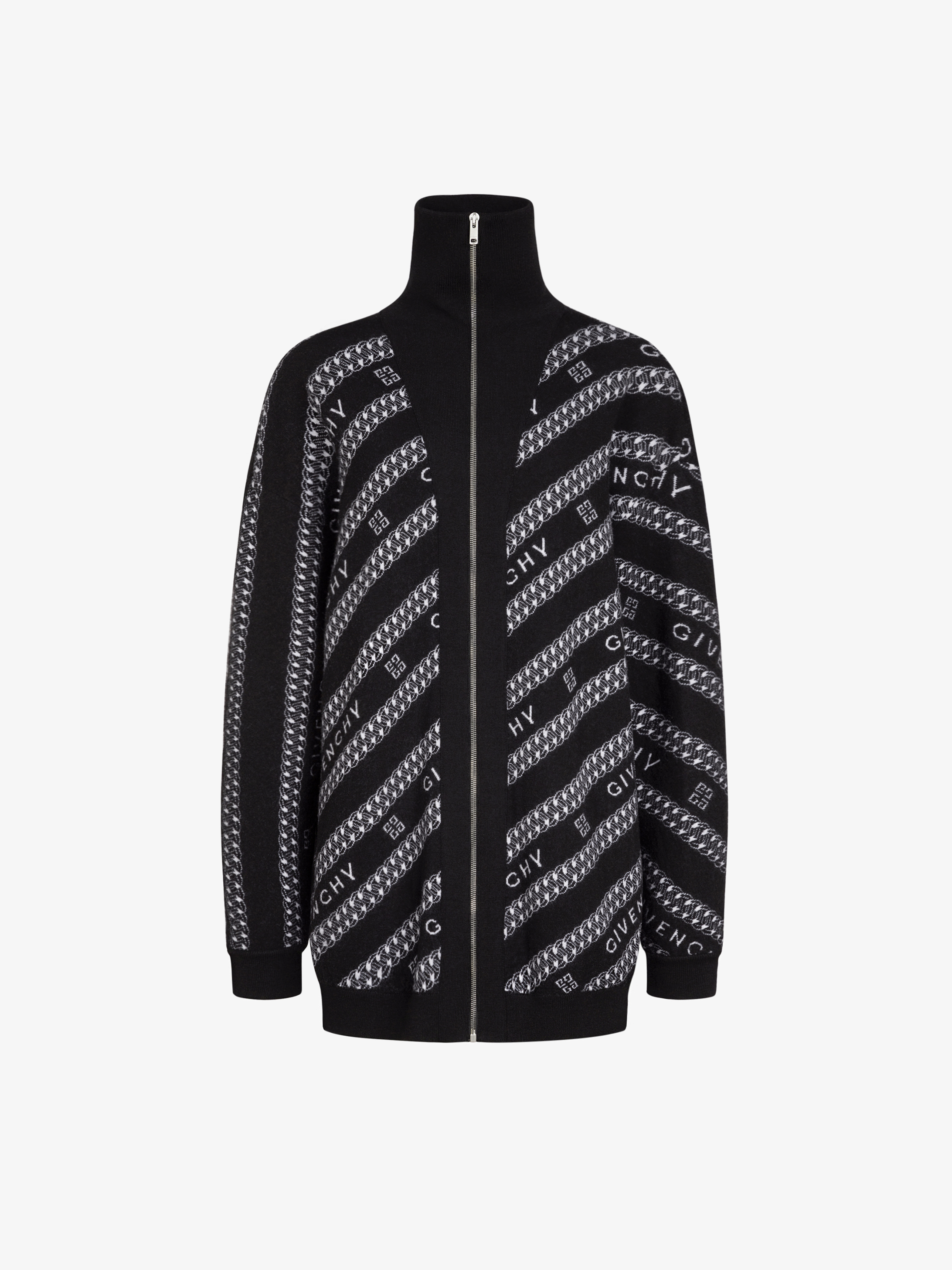 GIVENCHY Chain cardigan in jacquard