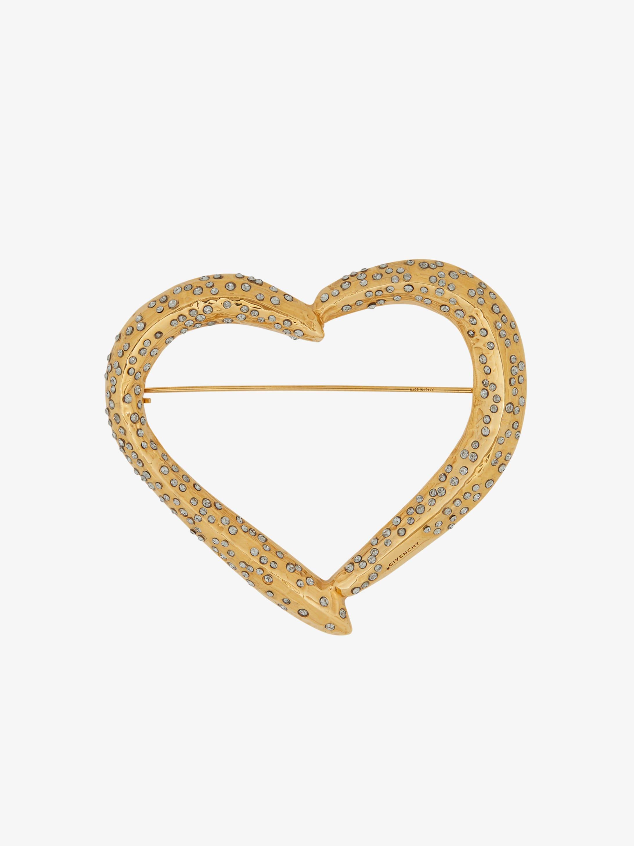 Heart Crystals paved brooch
