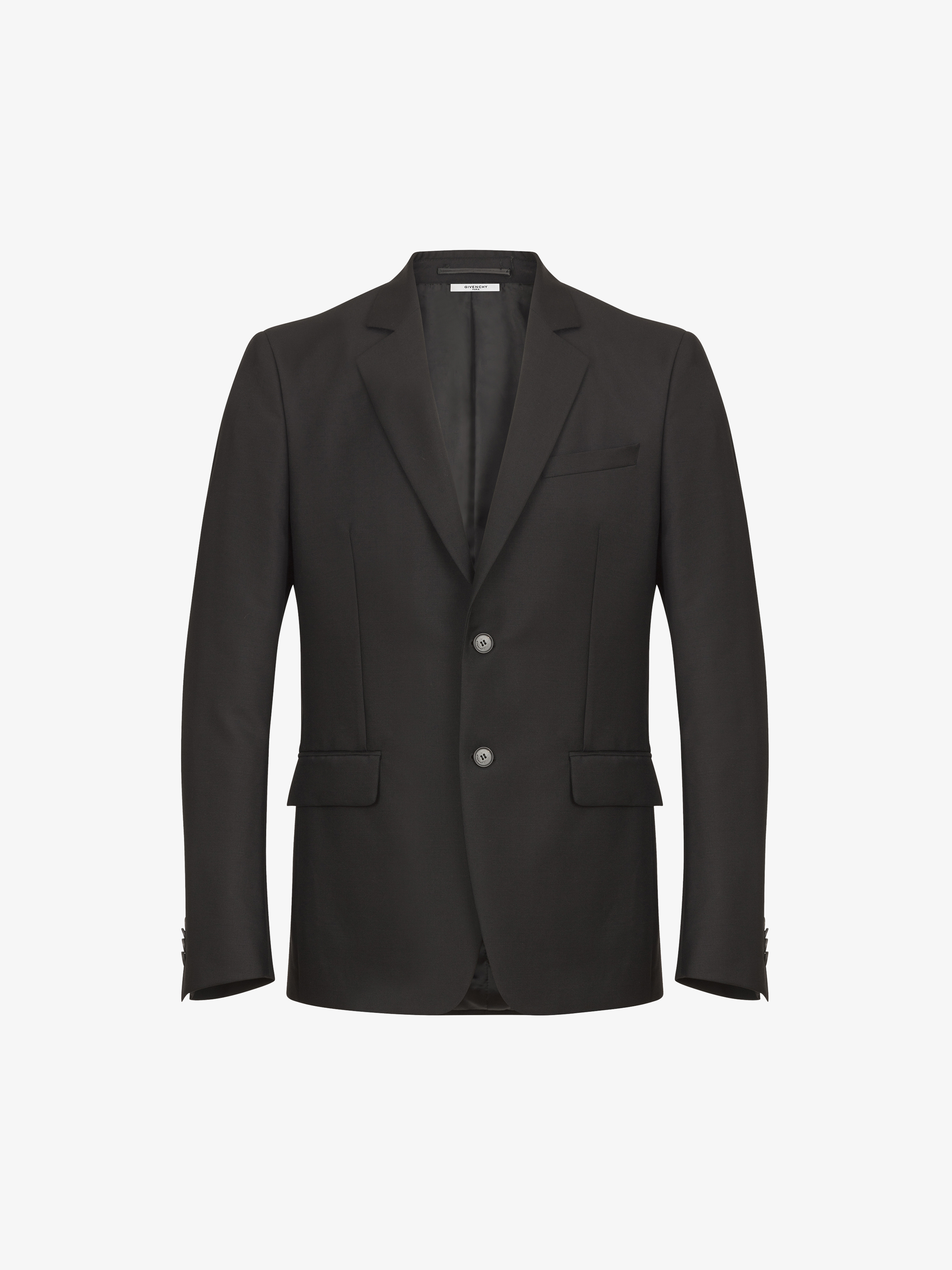 Back silver star slim fit jack in wool and mohair
