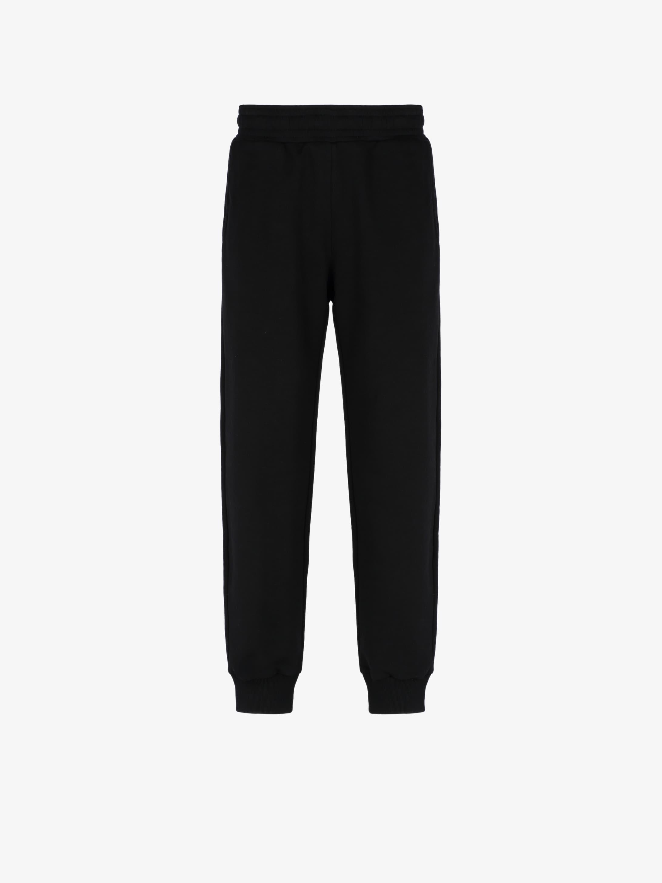Calligraphic printed jogger pants