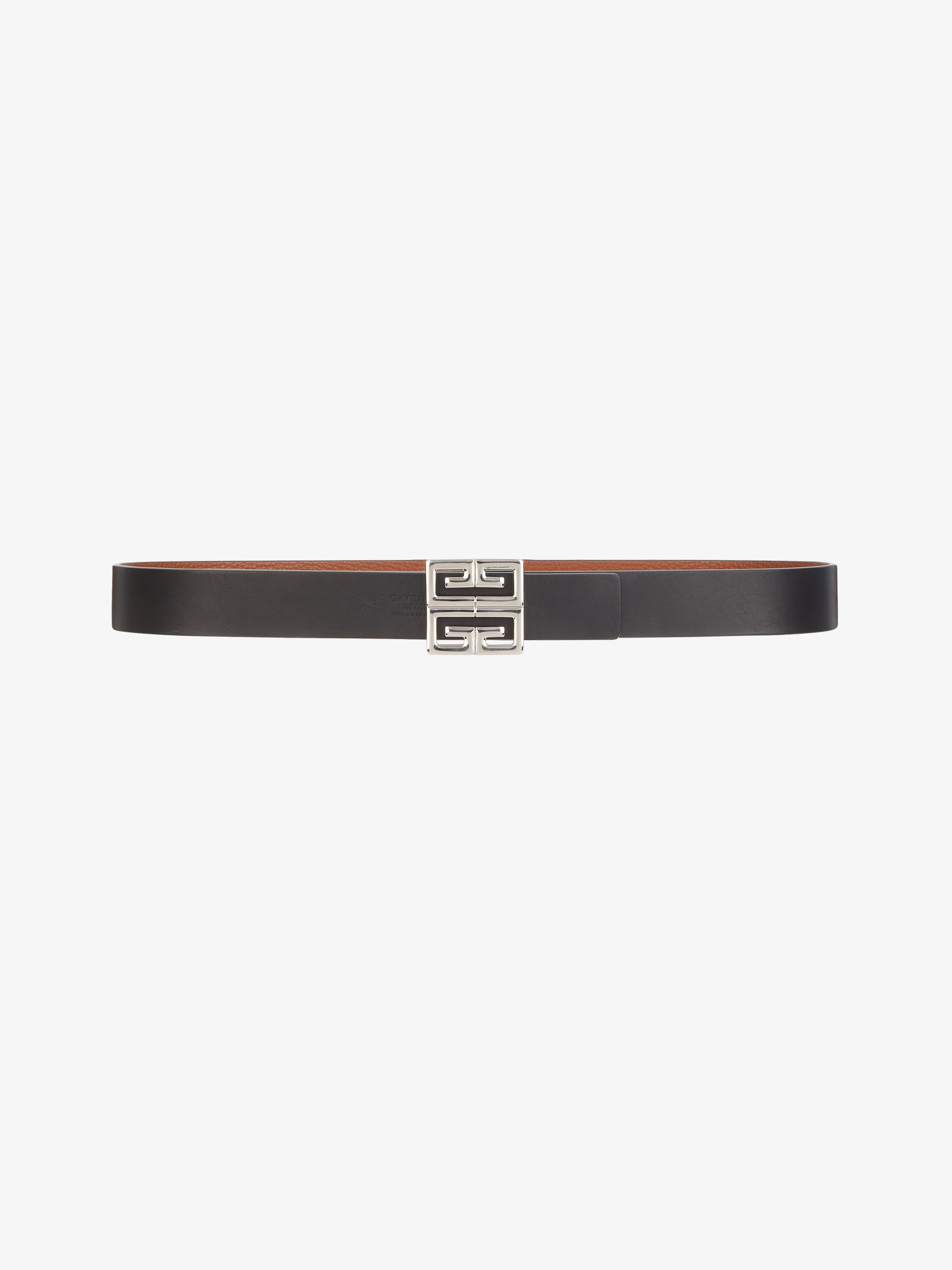 Reversible 4G buckle belt in leather